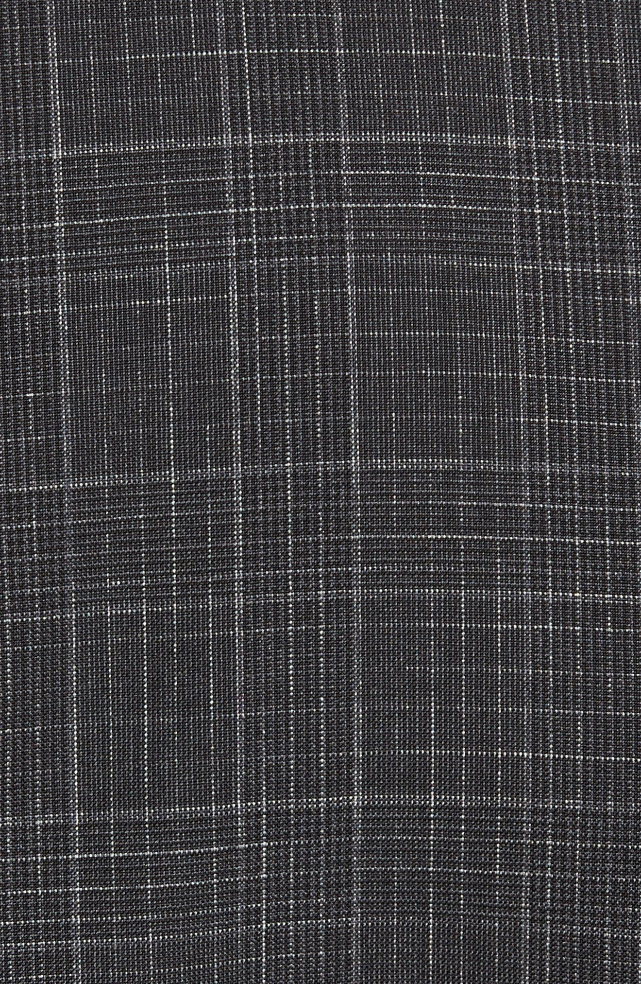 Hutson/Gander Trim Fit Plaid Wool Suit,                             Alternate thumbnail 7, color,                             Open Grey