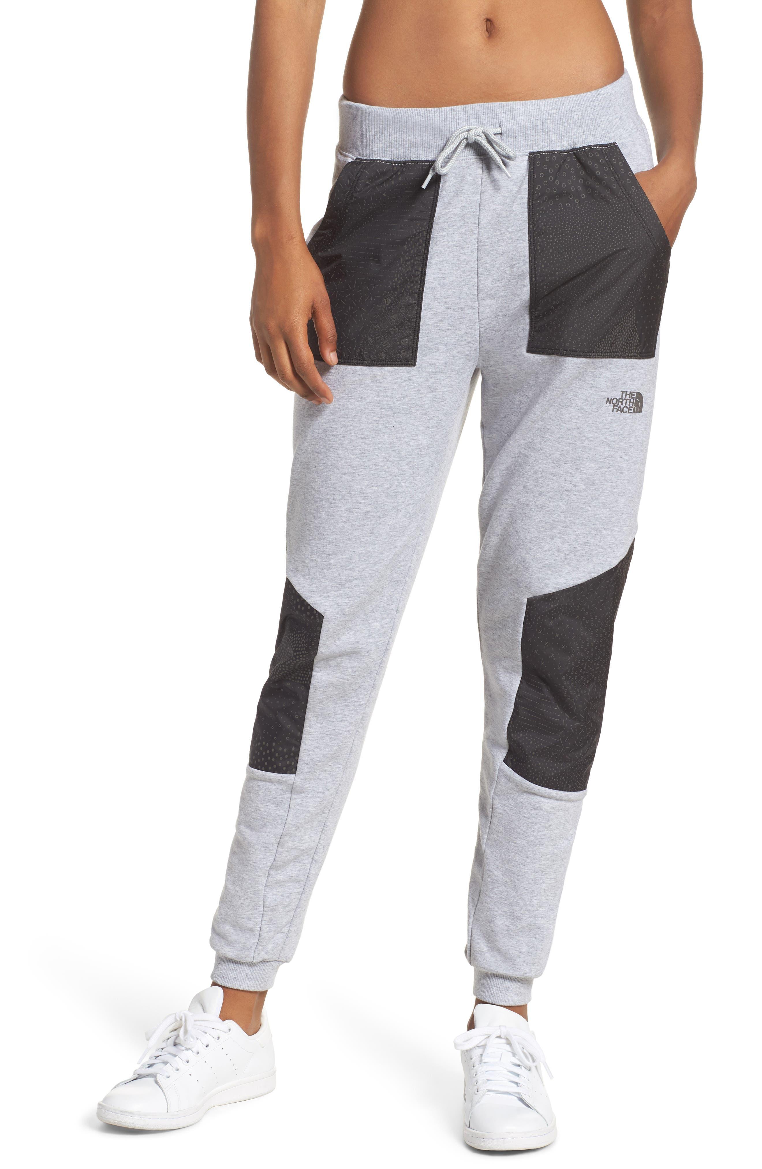 Reflective Jogger Pants,                         Main,                         color, Tnf Lt Grey/ Black Ig Ref