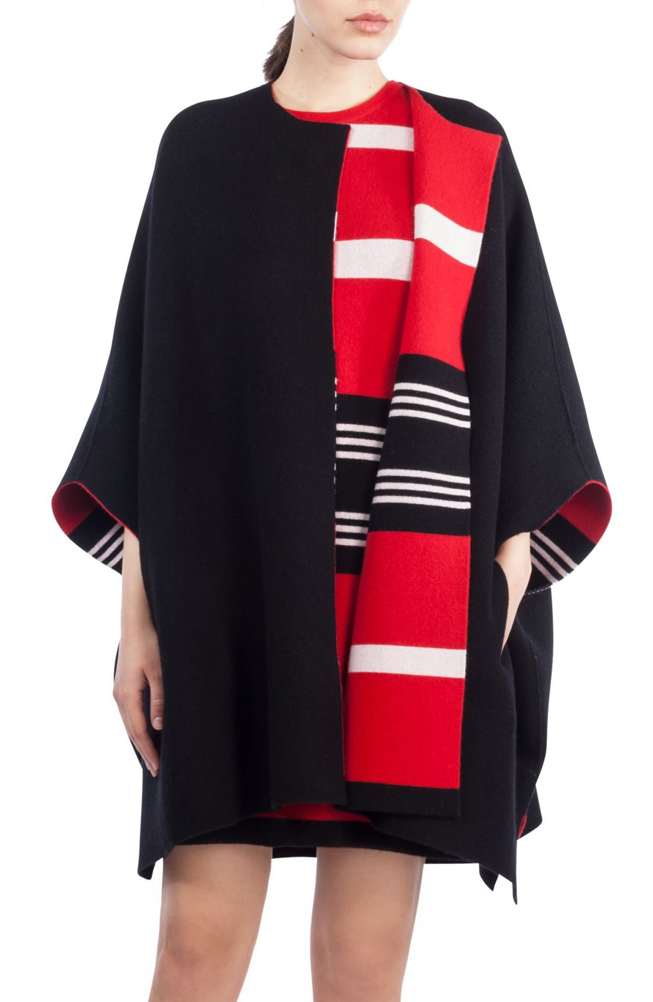Akris Reversible Double Face Cashmere Cape