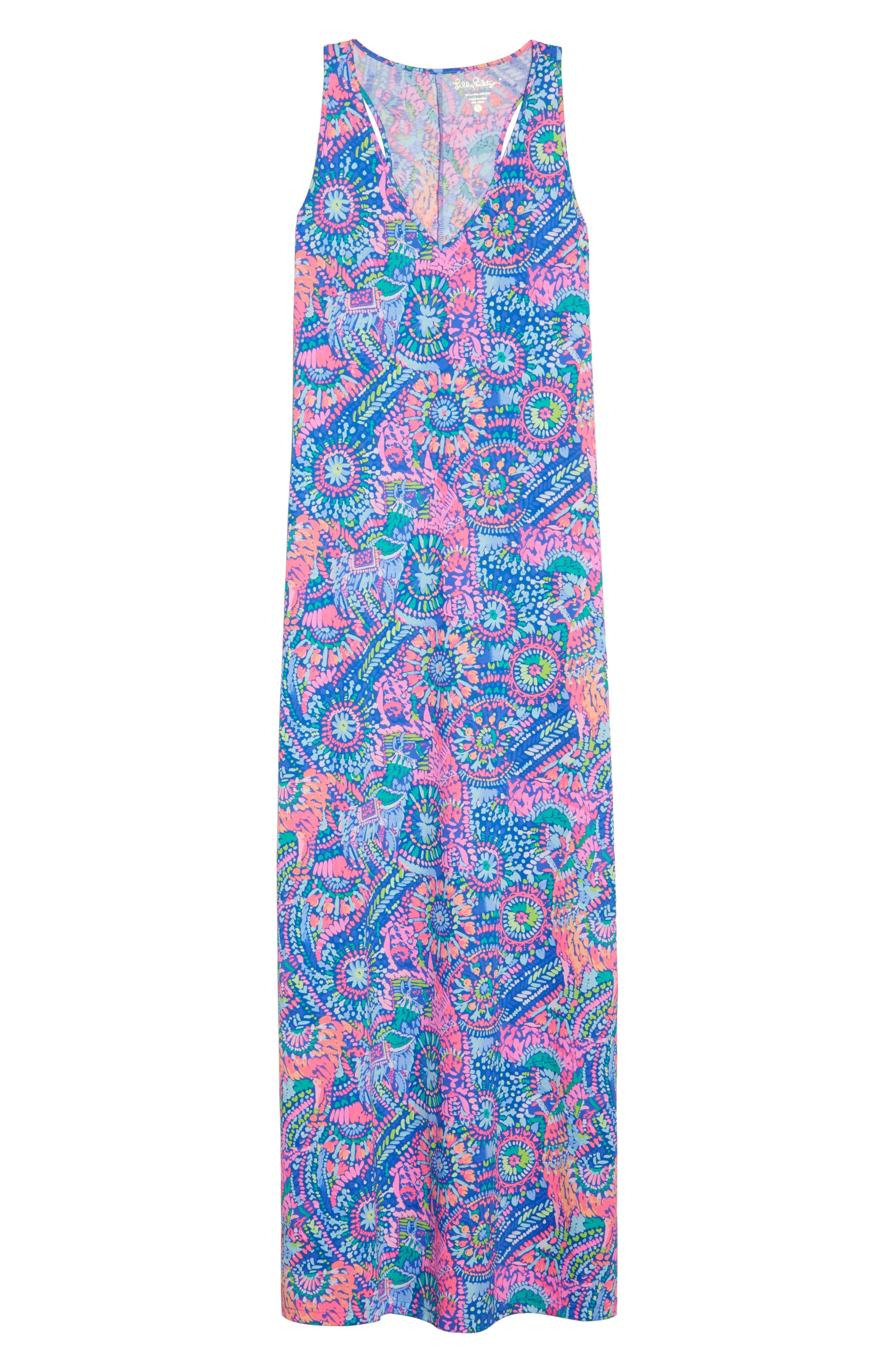 Kerri Maxi Dress,                             Alternate thumbnail 6, color,                             Multi Llama