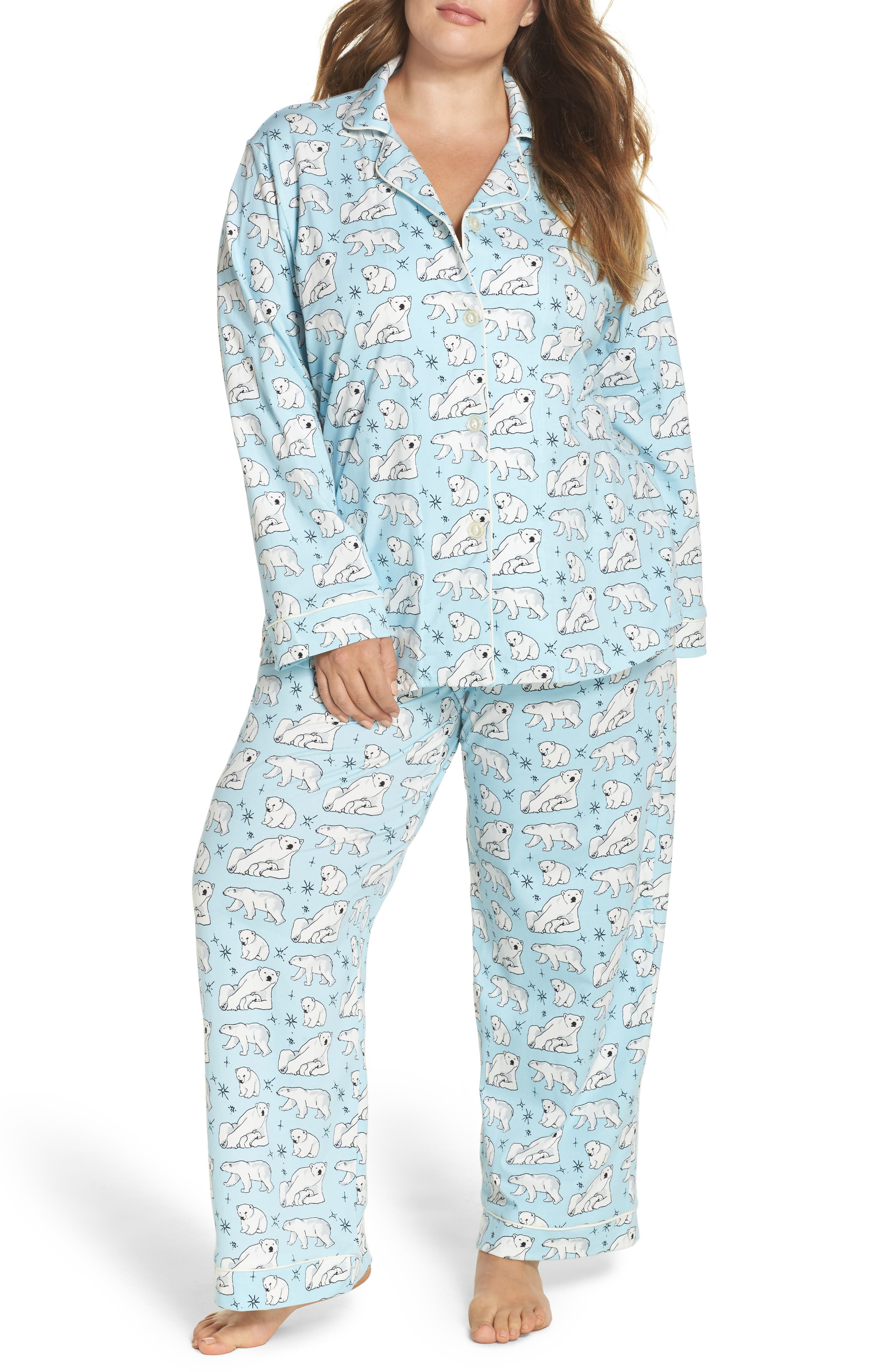 BedHead Polar Bear Print Pajamas (Plus Size)