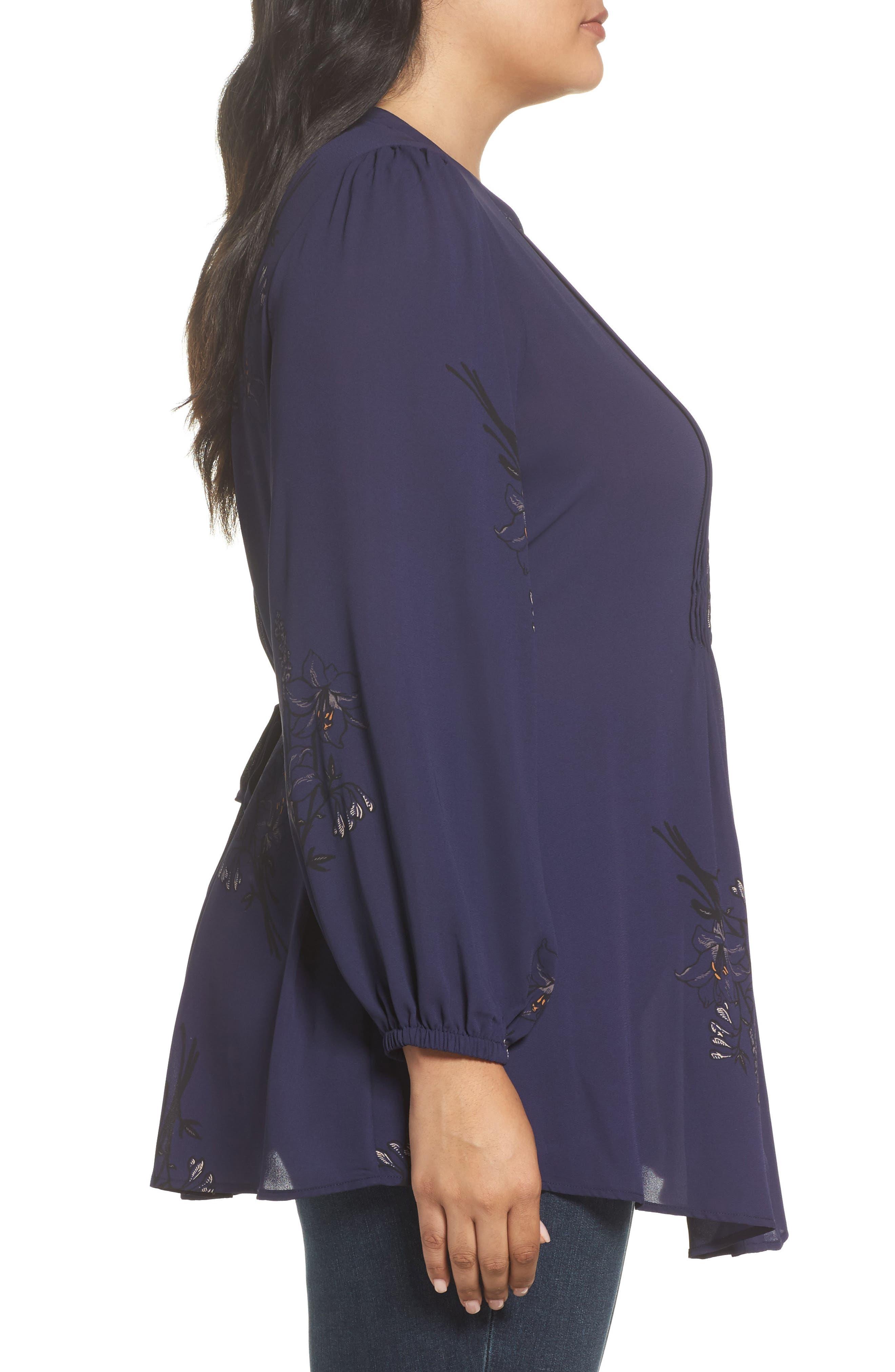 Alternate Image 3  - Melissa McCarthy Seven7 Classic Pintuck Shirt (Plus Size)