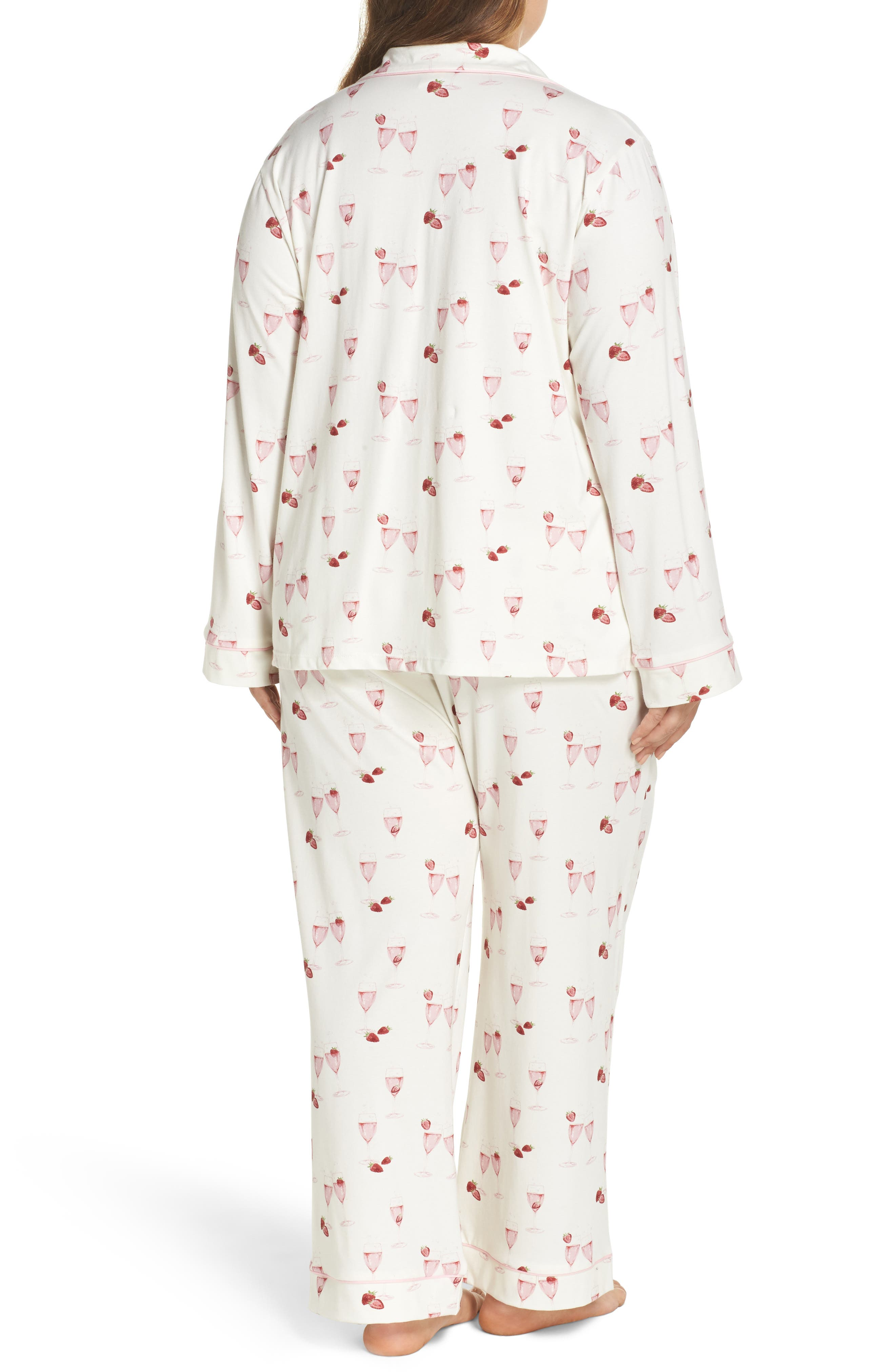 Alternate Image 2  - BedHead Strawberries & Champagne Print Pajamas (Plus Size)