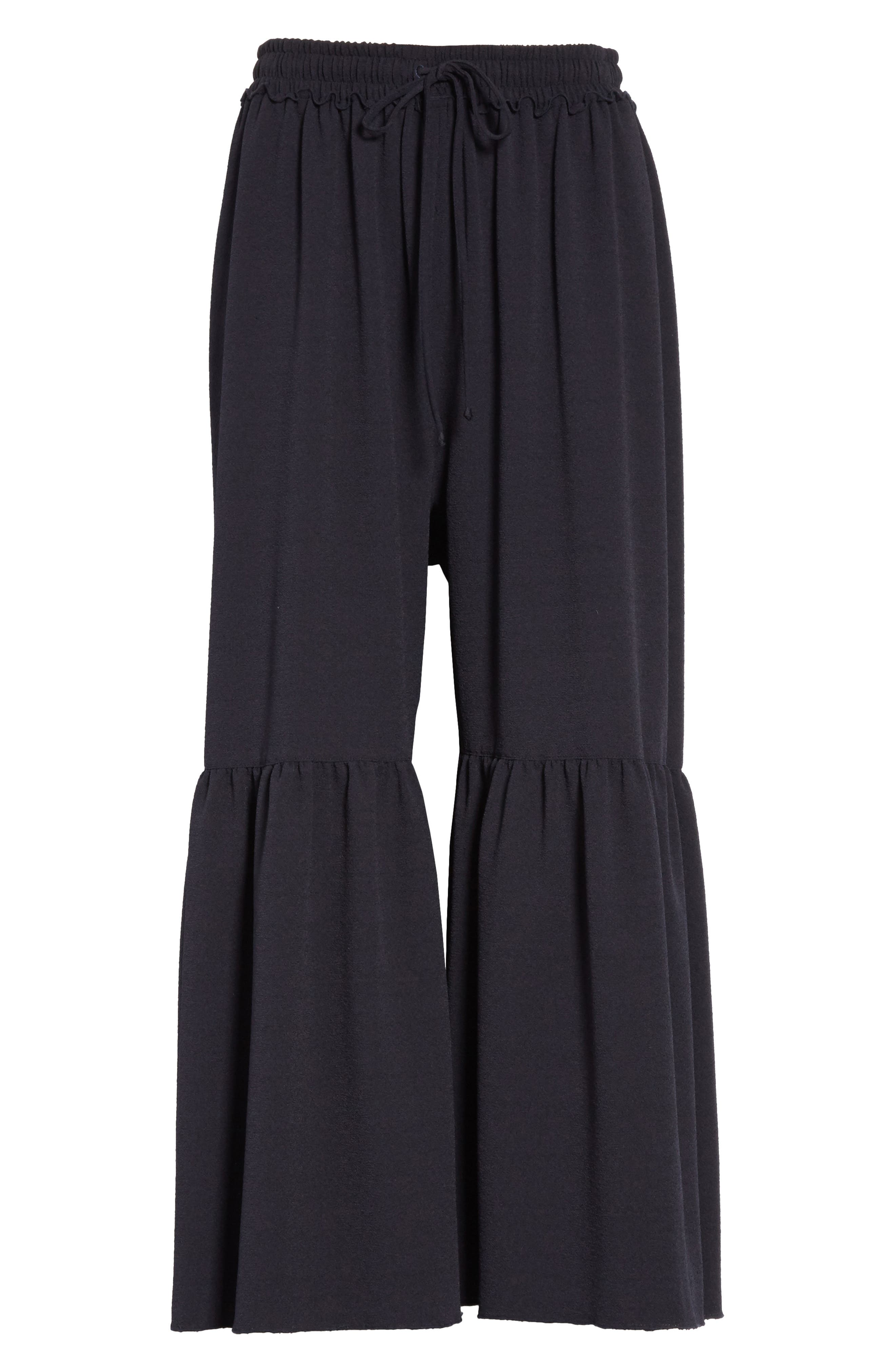 Moroccan Flare Pants,                             Alternate thumbnail 6, color,                             Navy