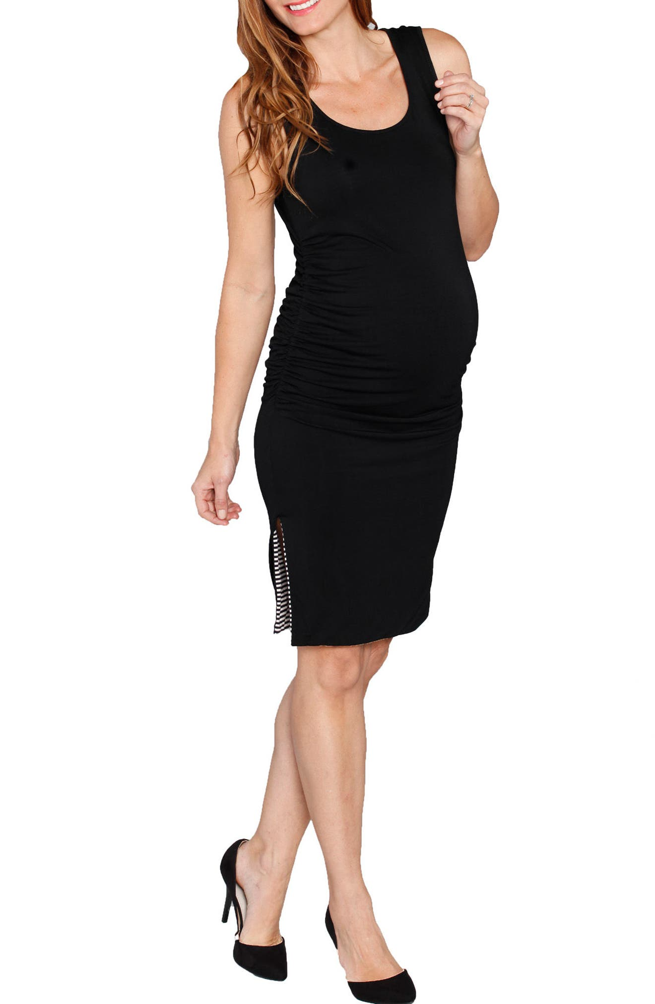 Reversible Maternity Tank Dress,                         Main,                         color, Stripes