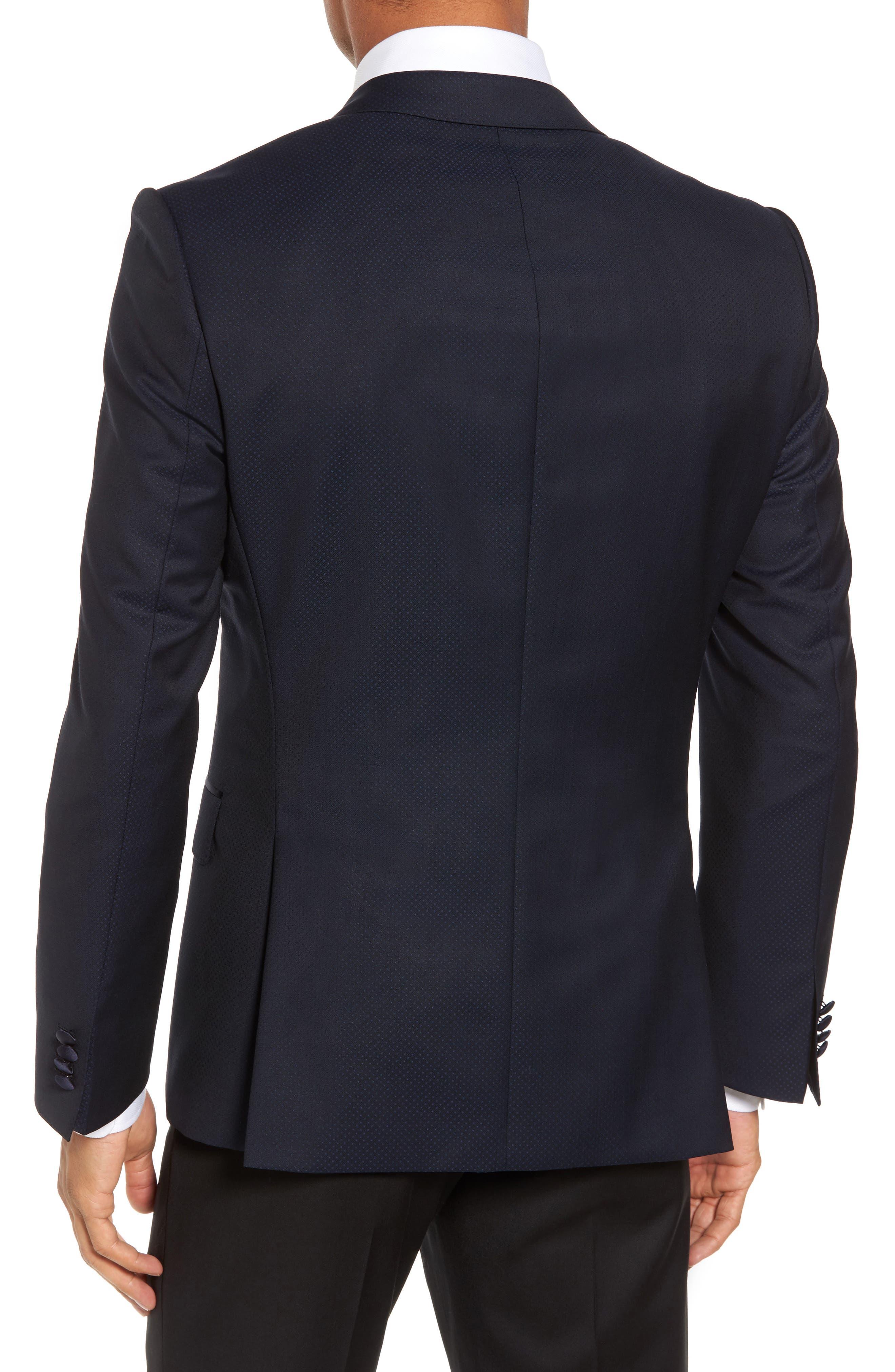 Helward Trim Fit Wool Dinner Jacket,                             Alternate thumbnail 2, color,                             Navy