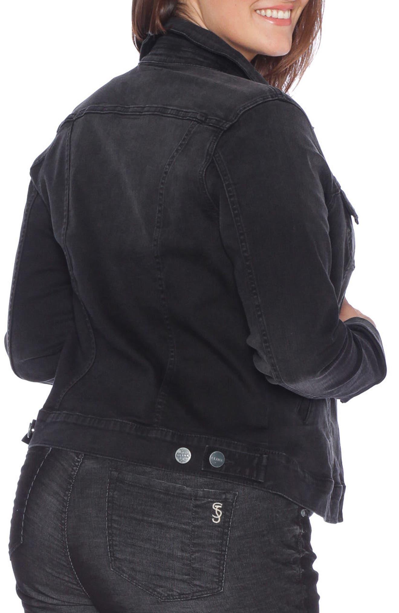 Alternate Image 2  - SLINK Jeans Denim Trucker Jacket (Plus Size)