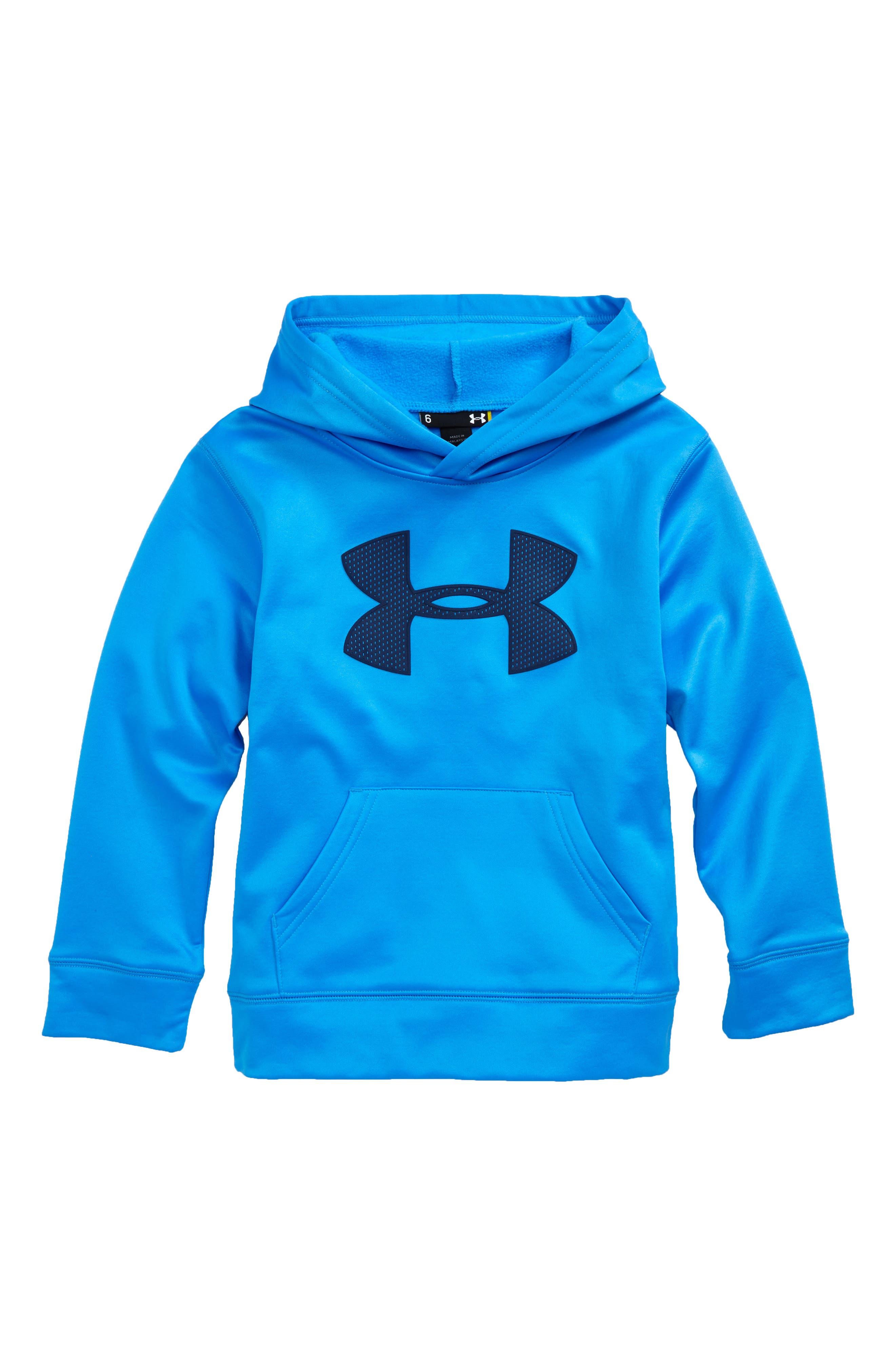 Under Armour Mesh Big Logo Pullover Hoodie (Little Boys)