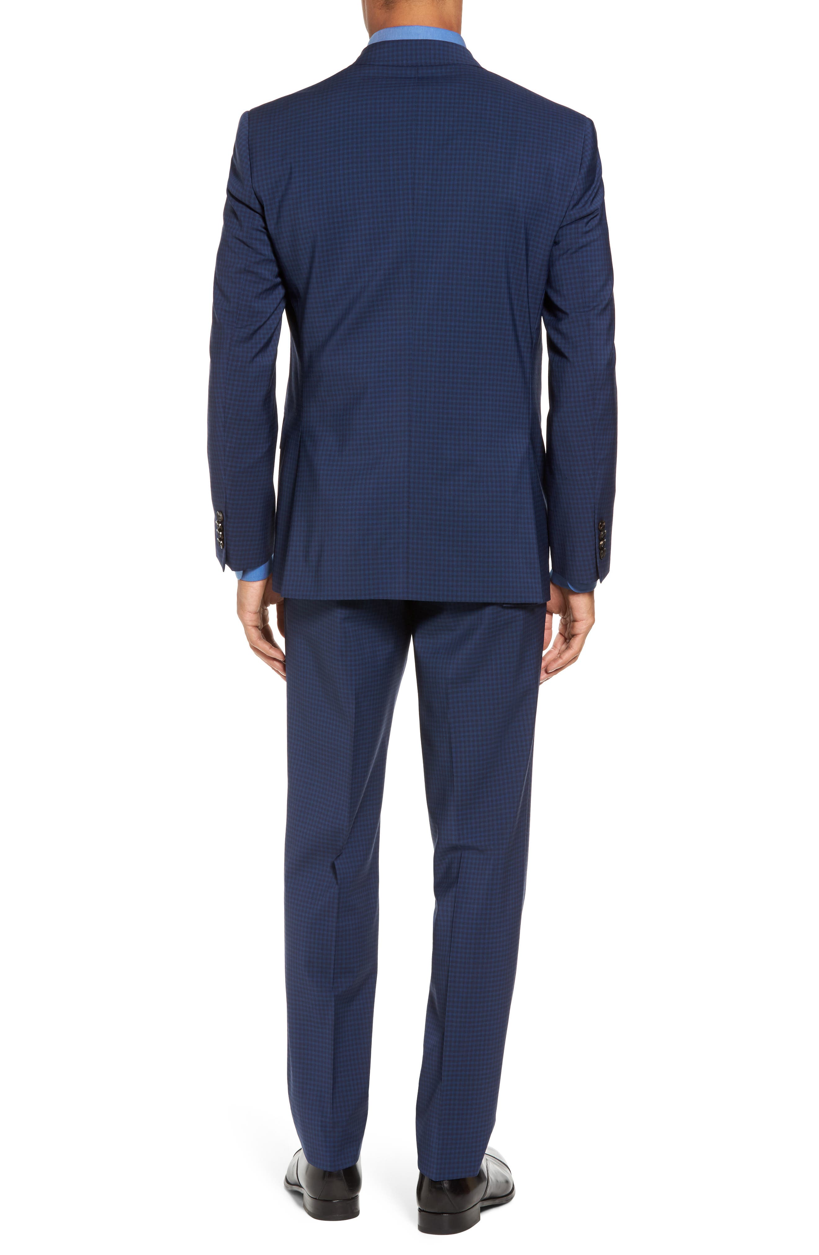 Jay Trim Fit Stretch Wool Suit,                             Alternate thumbnail 2, color,                             Blue