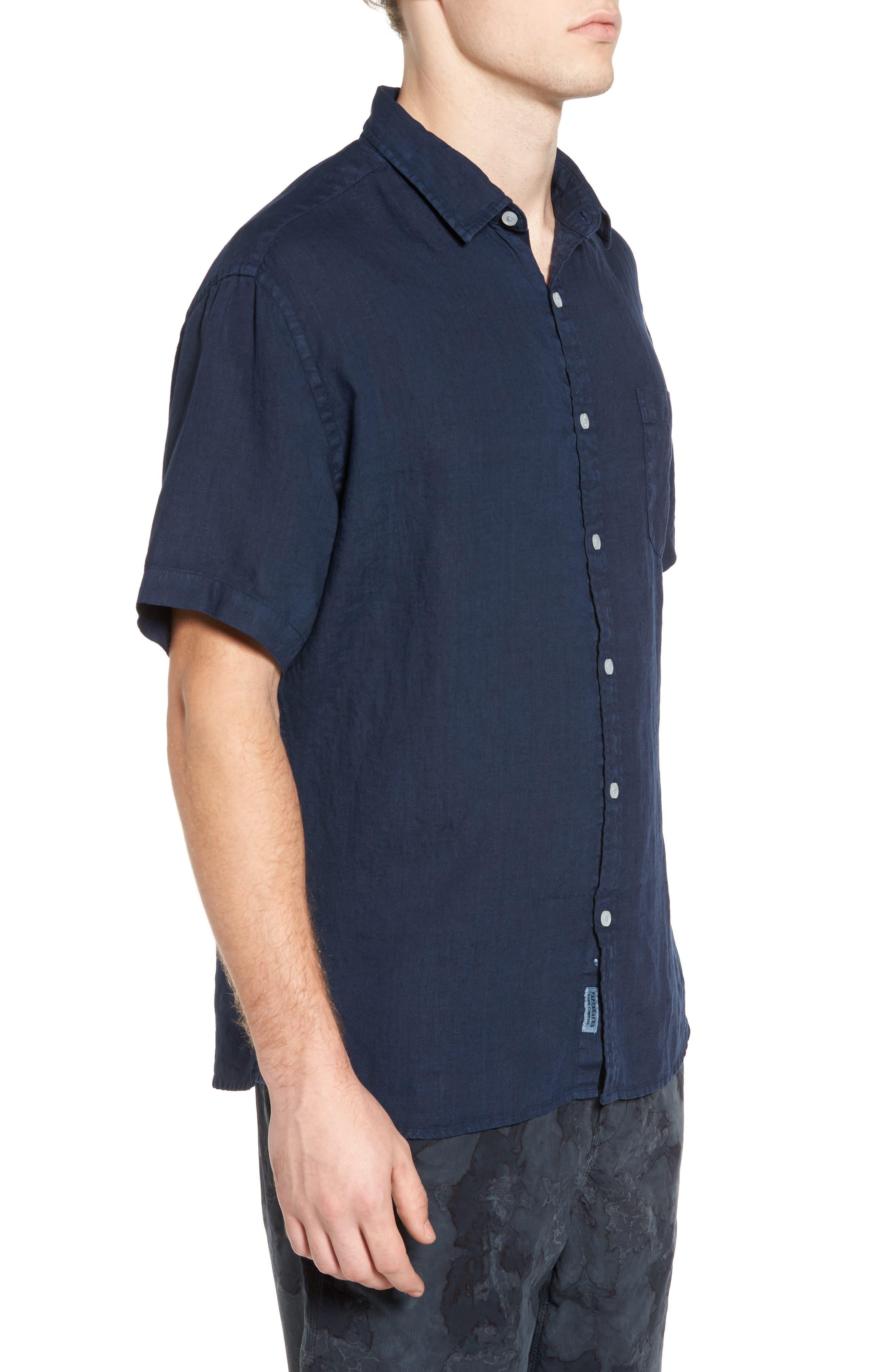 Alternate Image 3  - Original Paperbacks Rome Trim Fit Linen Sport Shirt