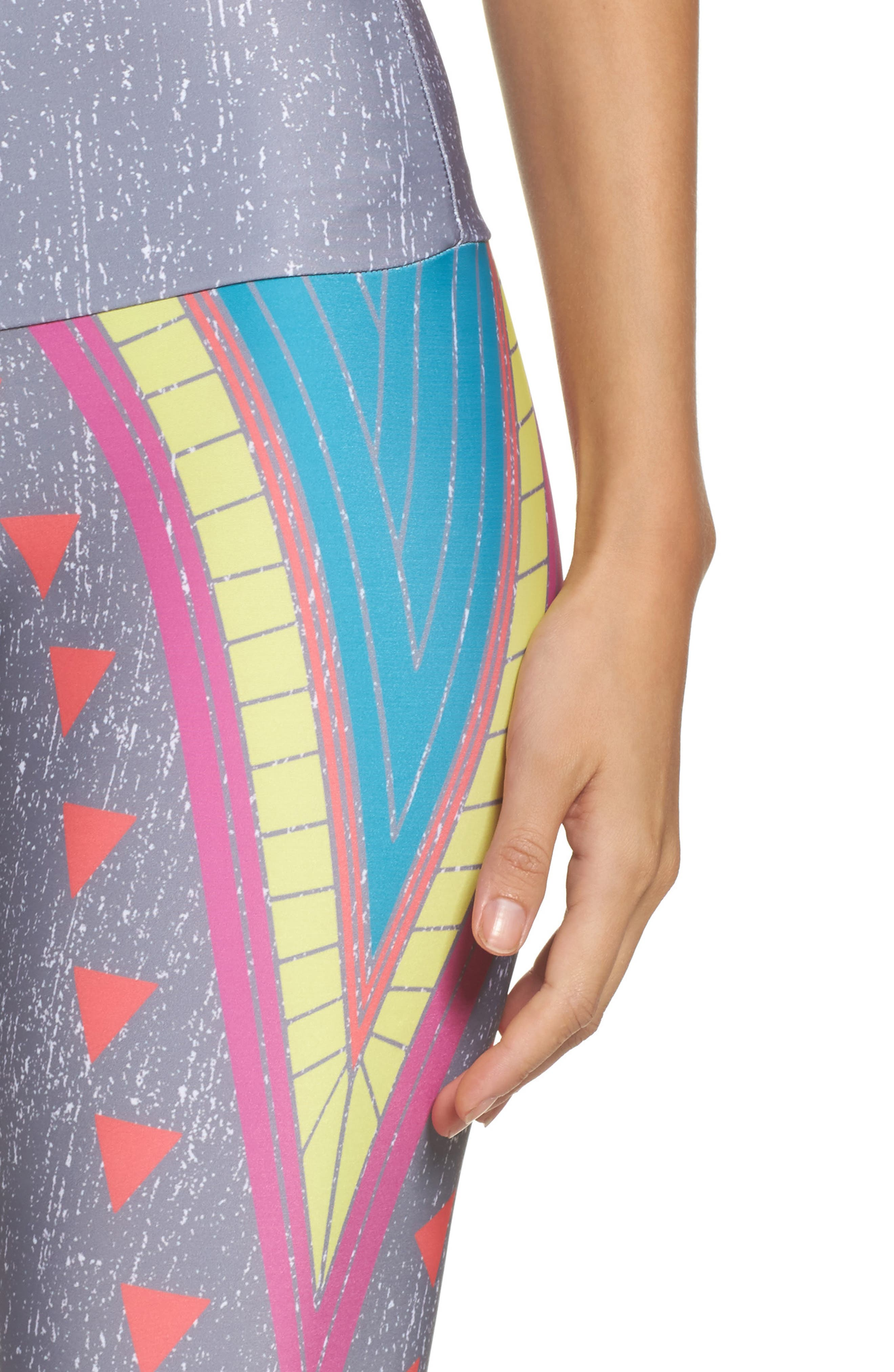 Alternate Image 4  - Onzie High Waist Graphic Leggings