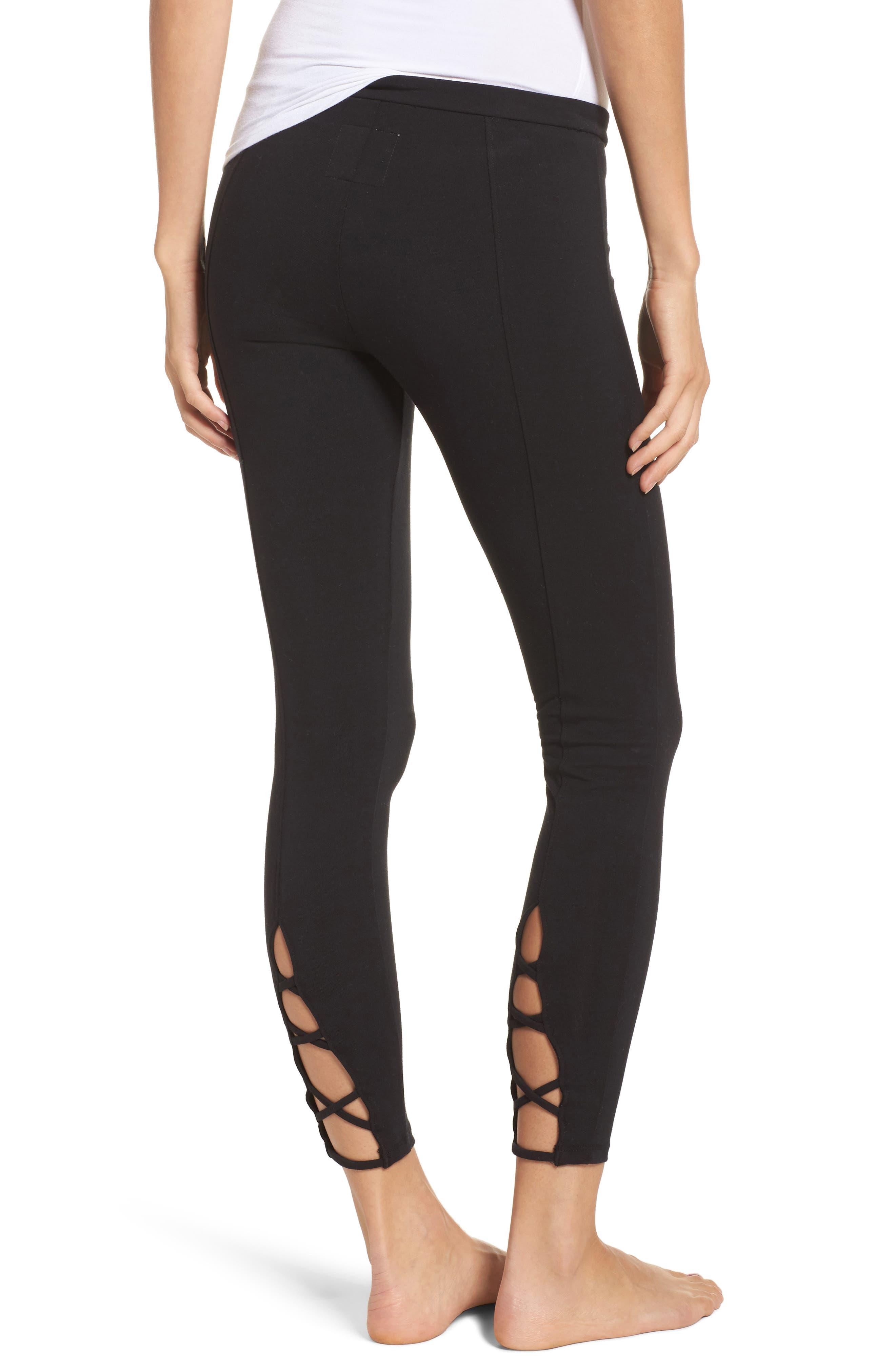 Crisscross Lounge Pants,                             Alternate thumbnail 2, color,                             True Black
