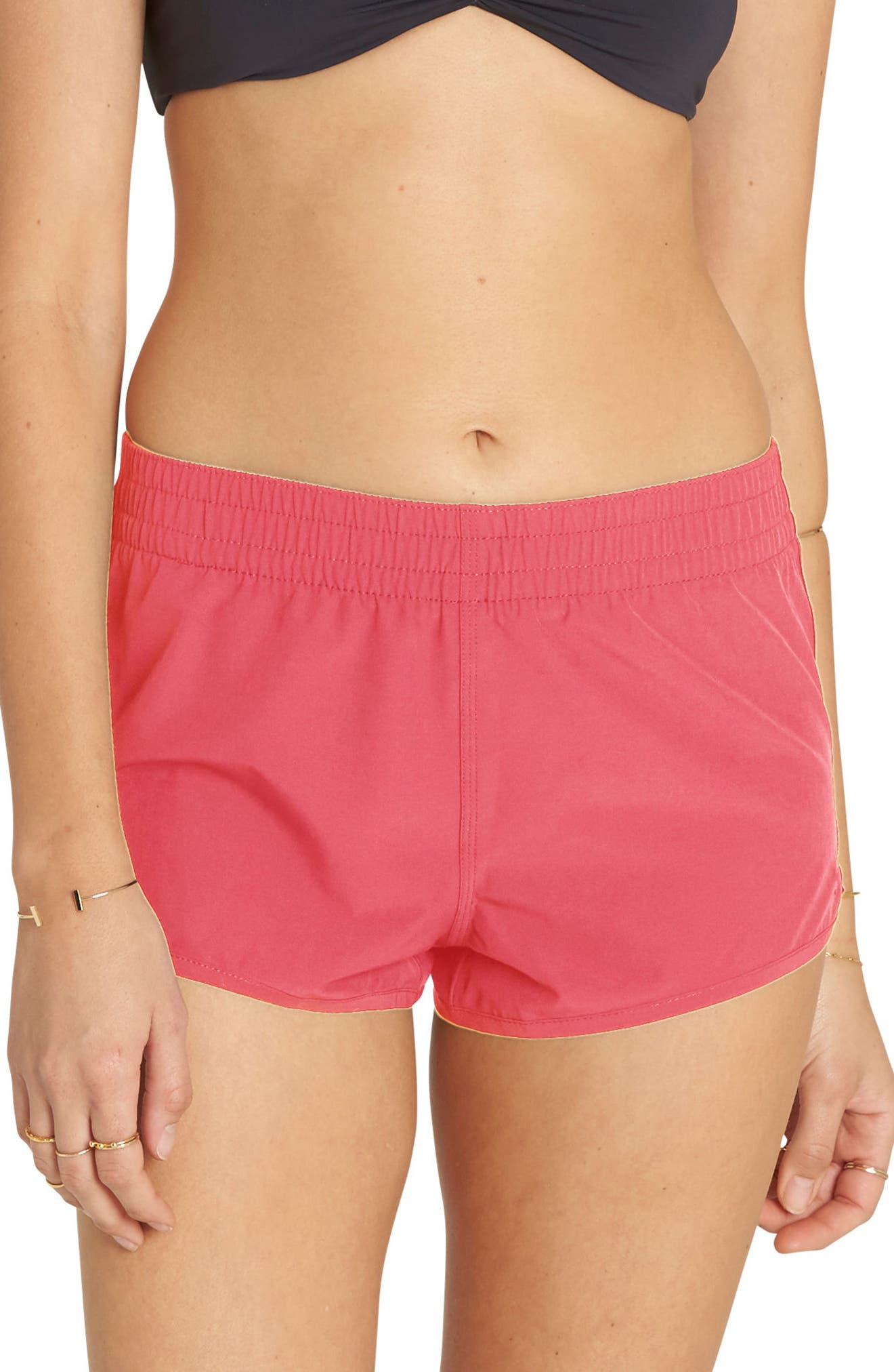 Sol Searcher Volley Swim Shorts,                         Main,                         color, Passion Fruit