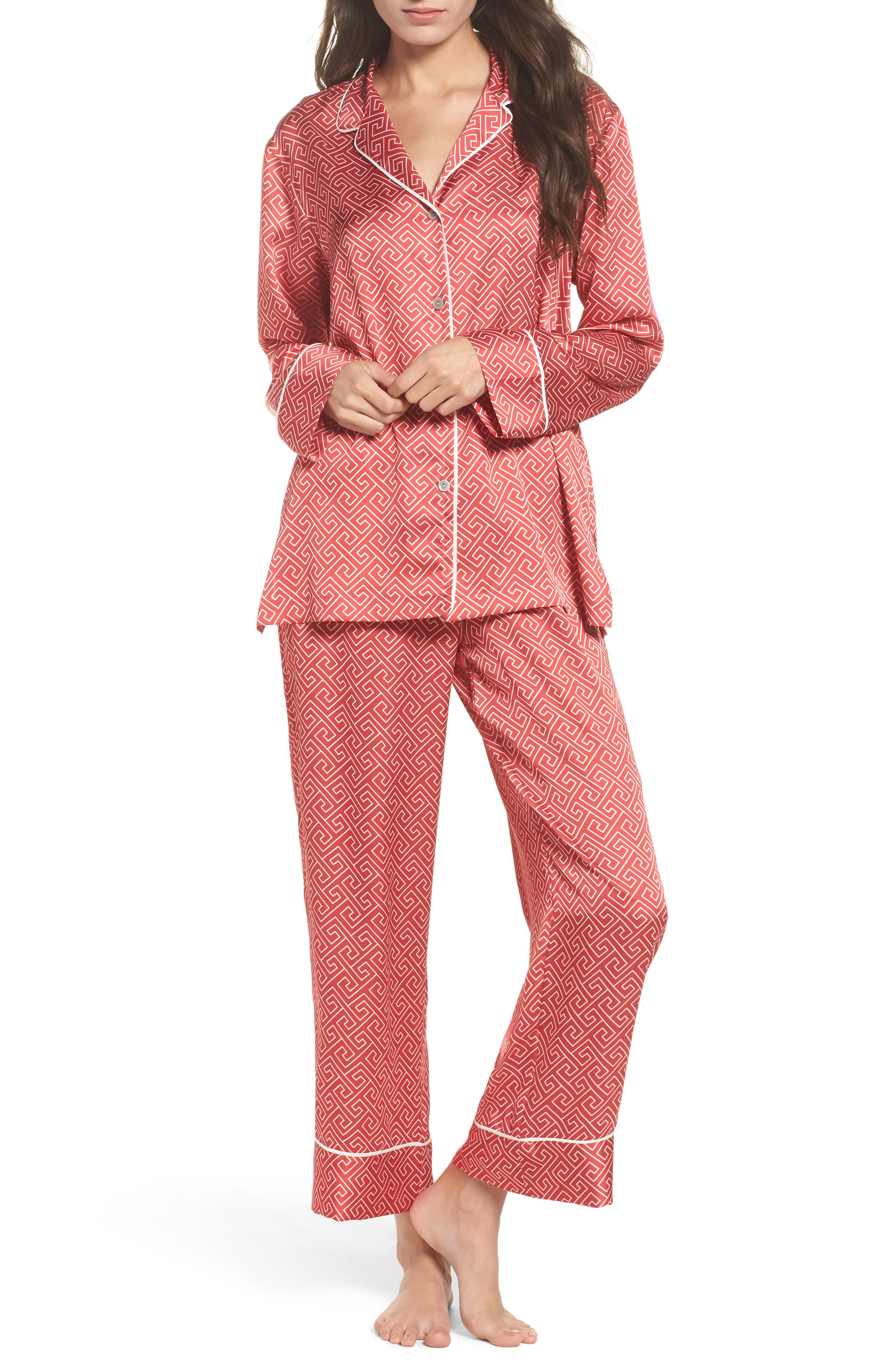 Alternate Image 1 Selected - Natori Labyrinth Satin Pajamas