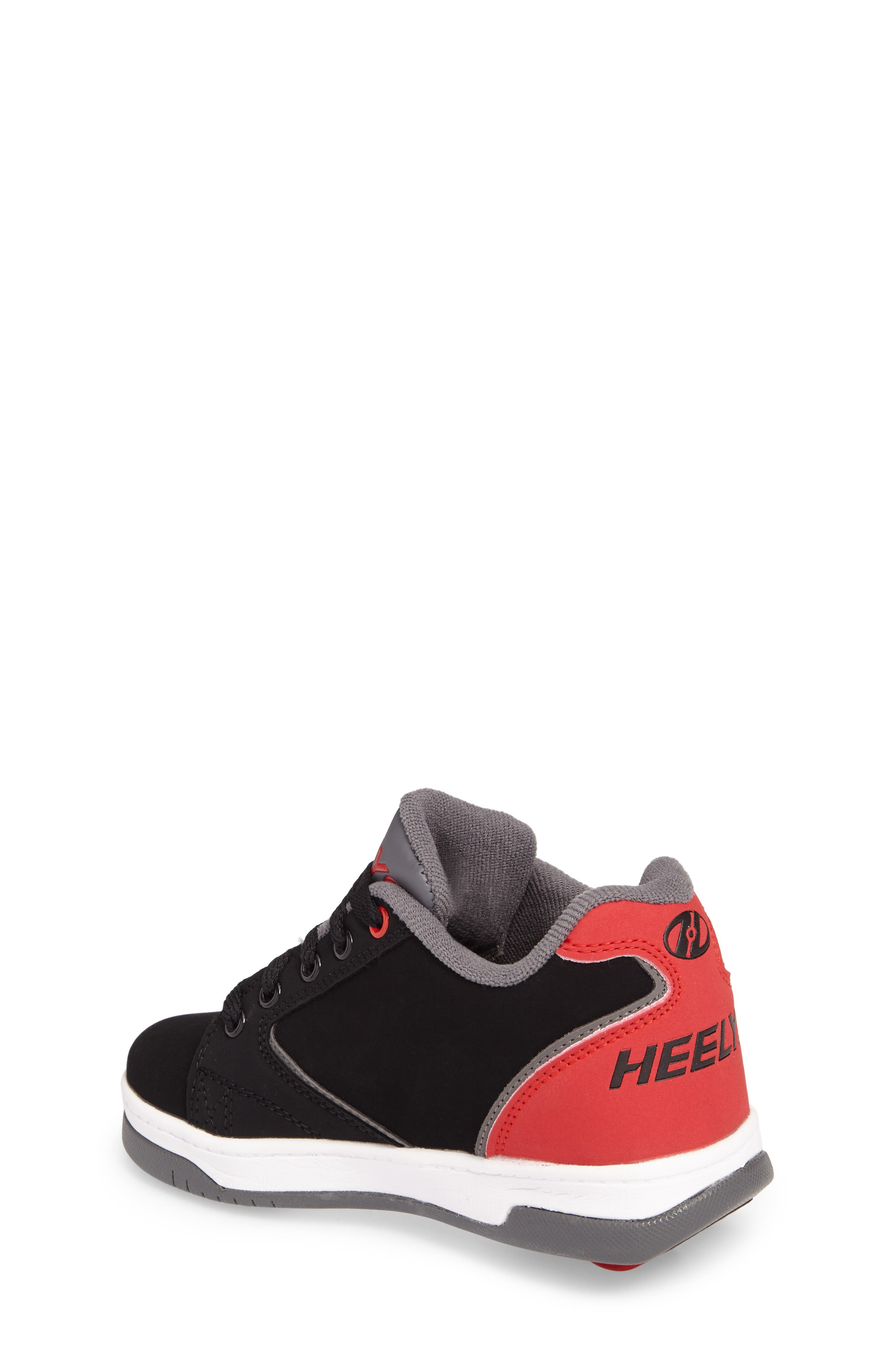Heeleys'Propel 2.0' Sneaker,                             Alternate thumbnail 2, color,                             Black/ Red/ Grey