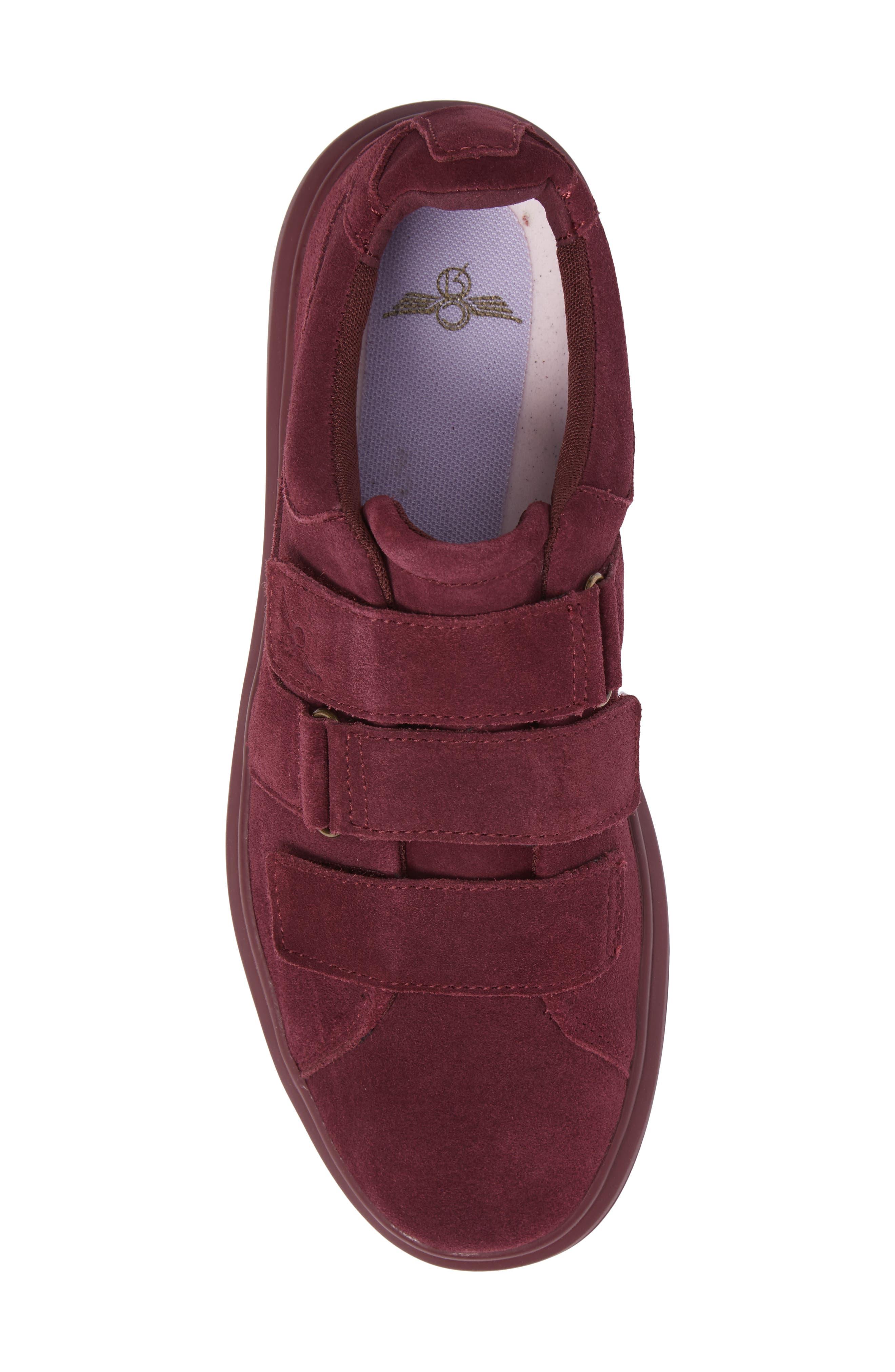 Meleti Sneaker,                             Alternate thumbnail 5, color,                             Dark Burgundy Leather