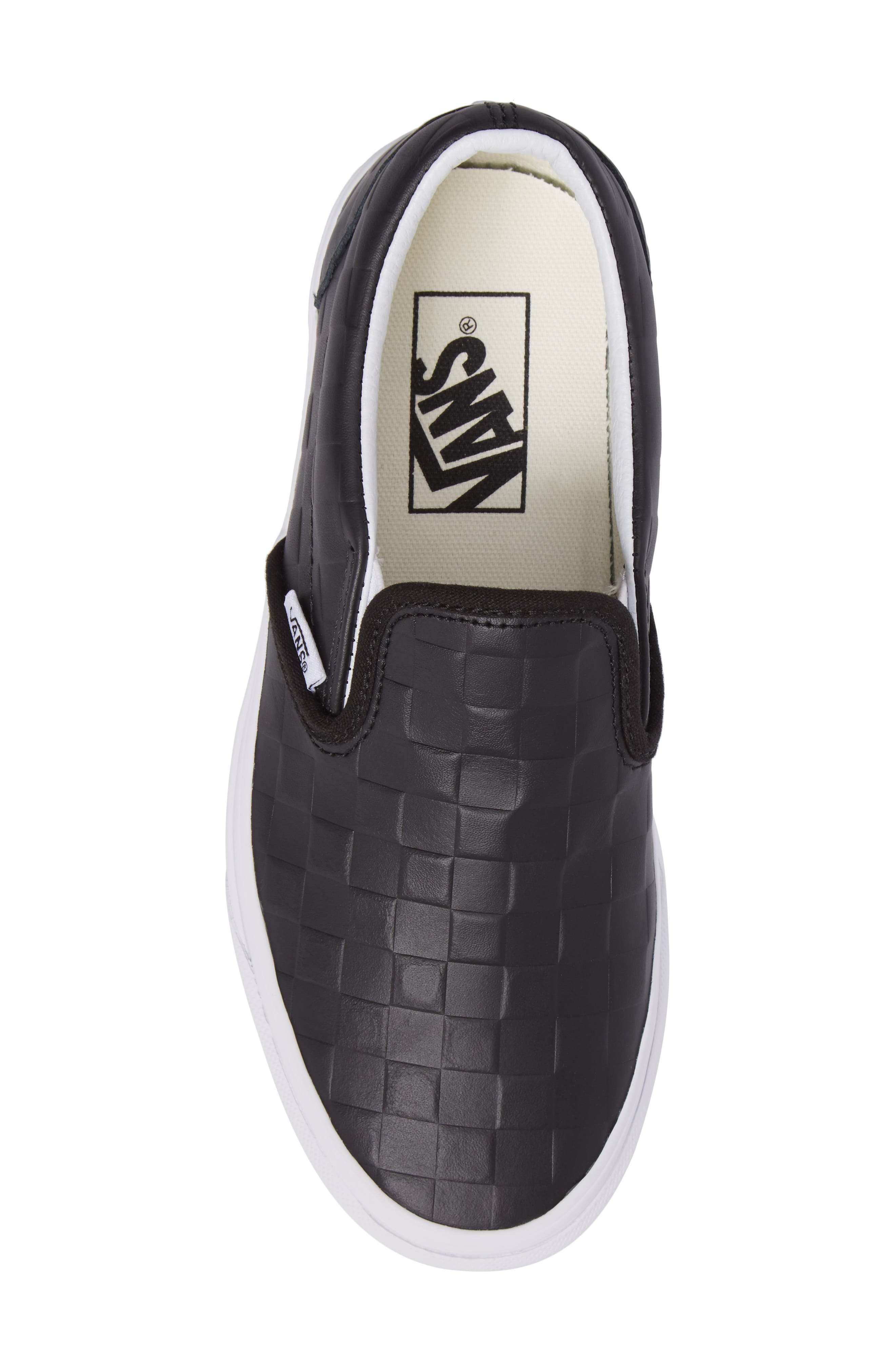 Classic Slip-On Sneaker,                             Alternate thumbnail 5, color,                             Checkerboard/ Black