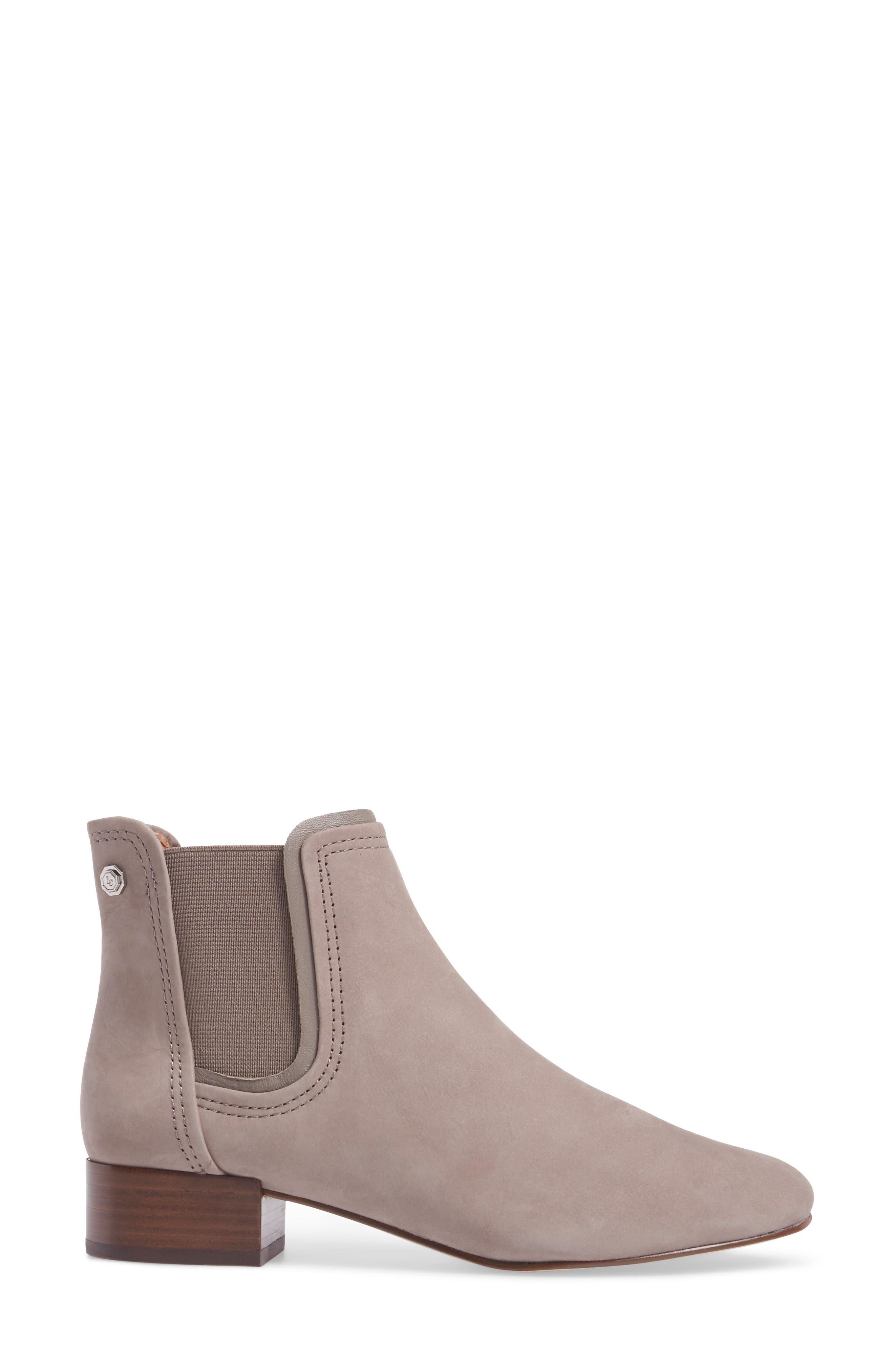 Waldon Chelsea Boot,                             Alternate thumbnail 3, color,                             Gravel Leather