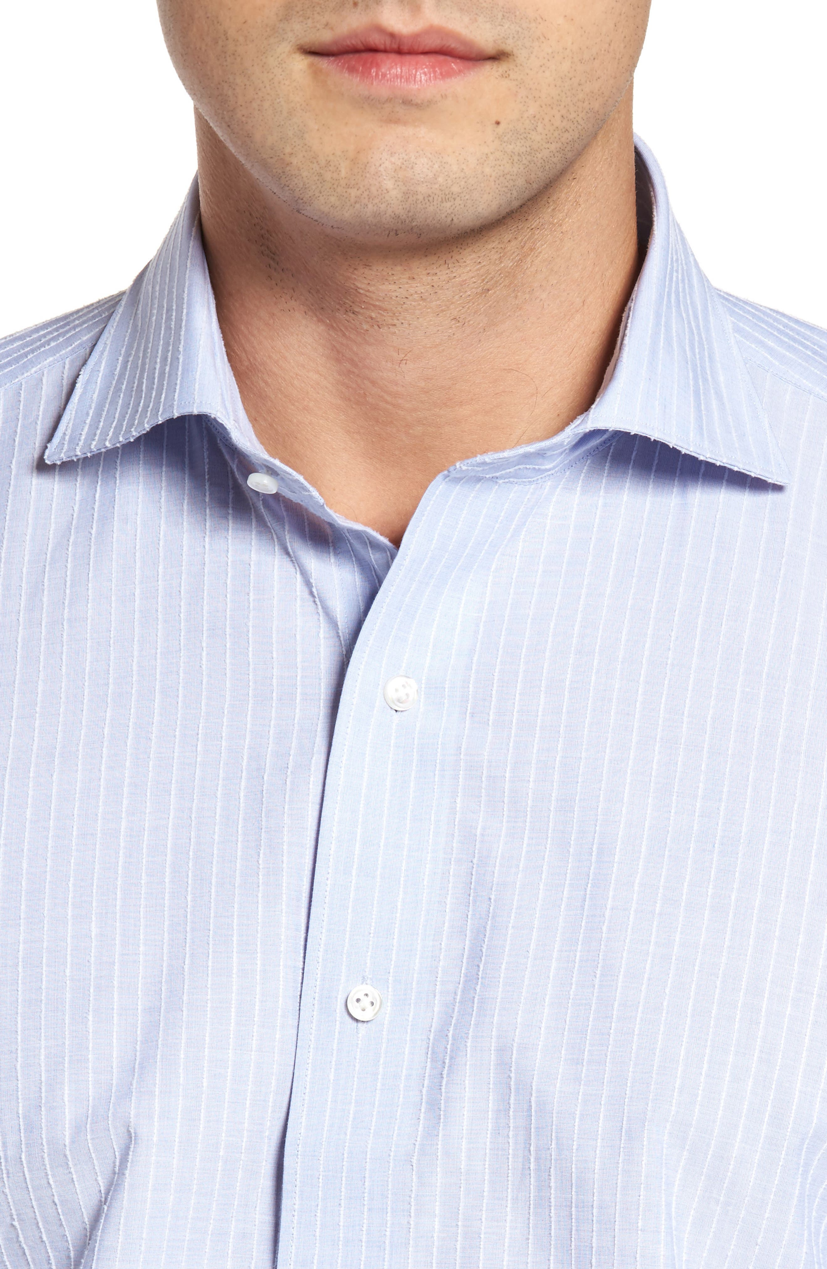 Cejar Stripe Sport Shirt,                             Alternate thumbnail 4, color,                             Blue Ceillo