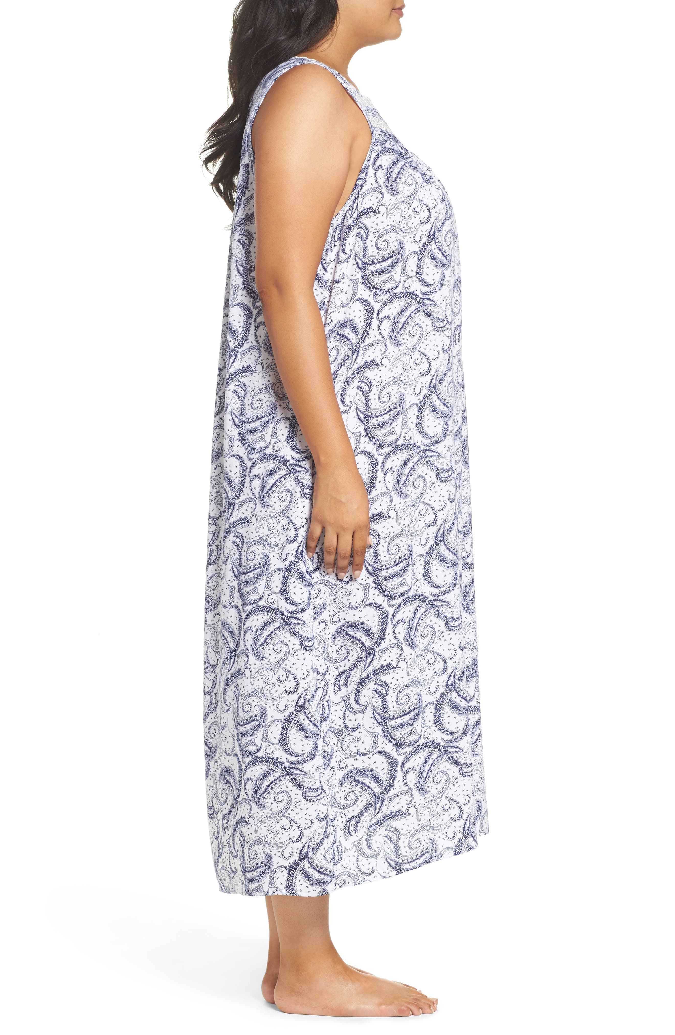 Alternate Image 3  - Eileen West Ballet Nightgown (Plus Size)