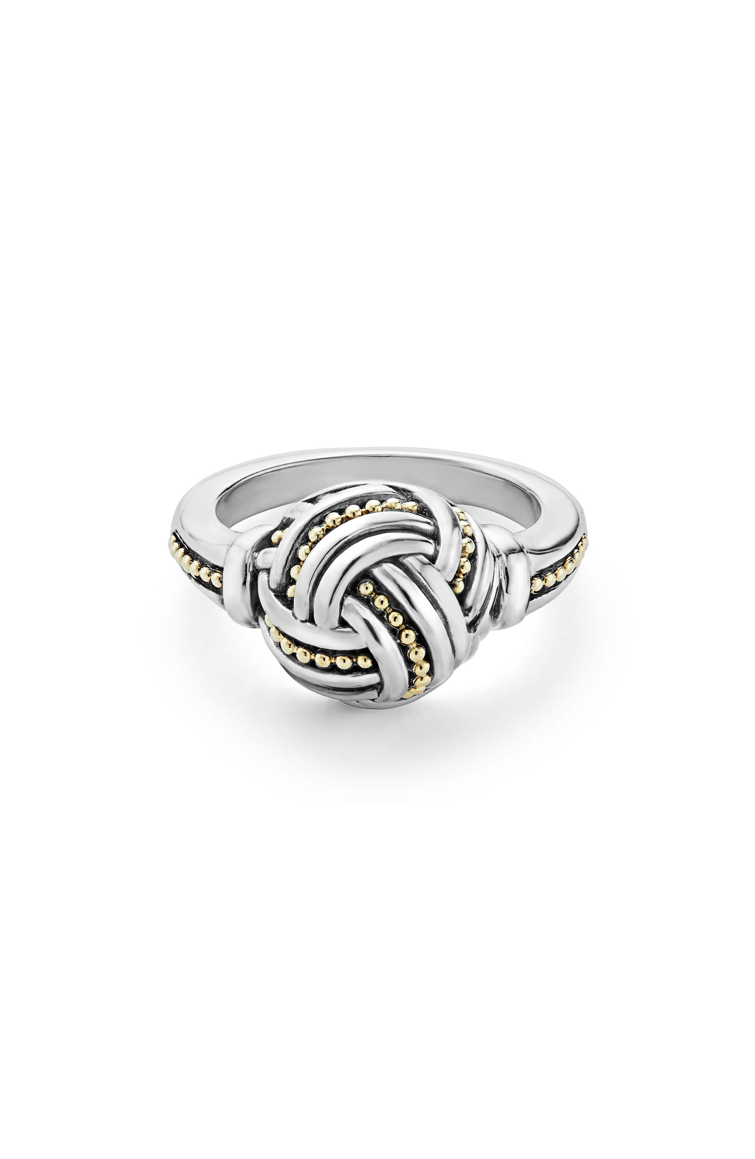 Small Round Ring,                             Main thumbnail 1, color,                             Silver/ Gold