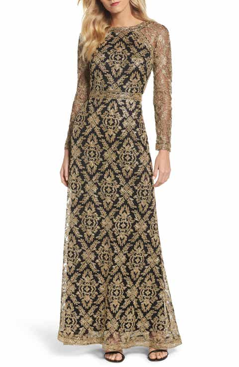 Tadashi Shoji Embroidered Lace Gown | Low Price