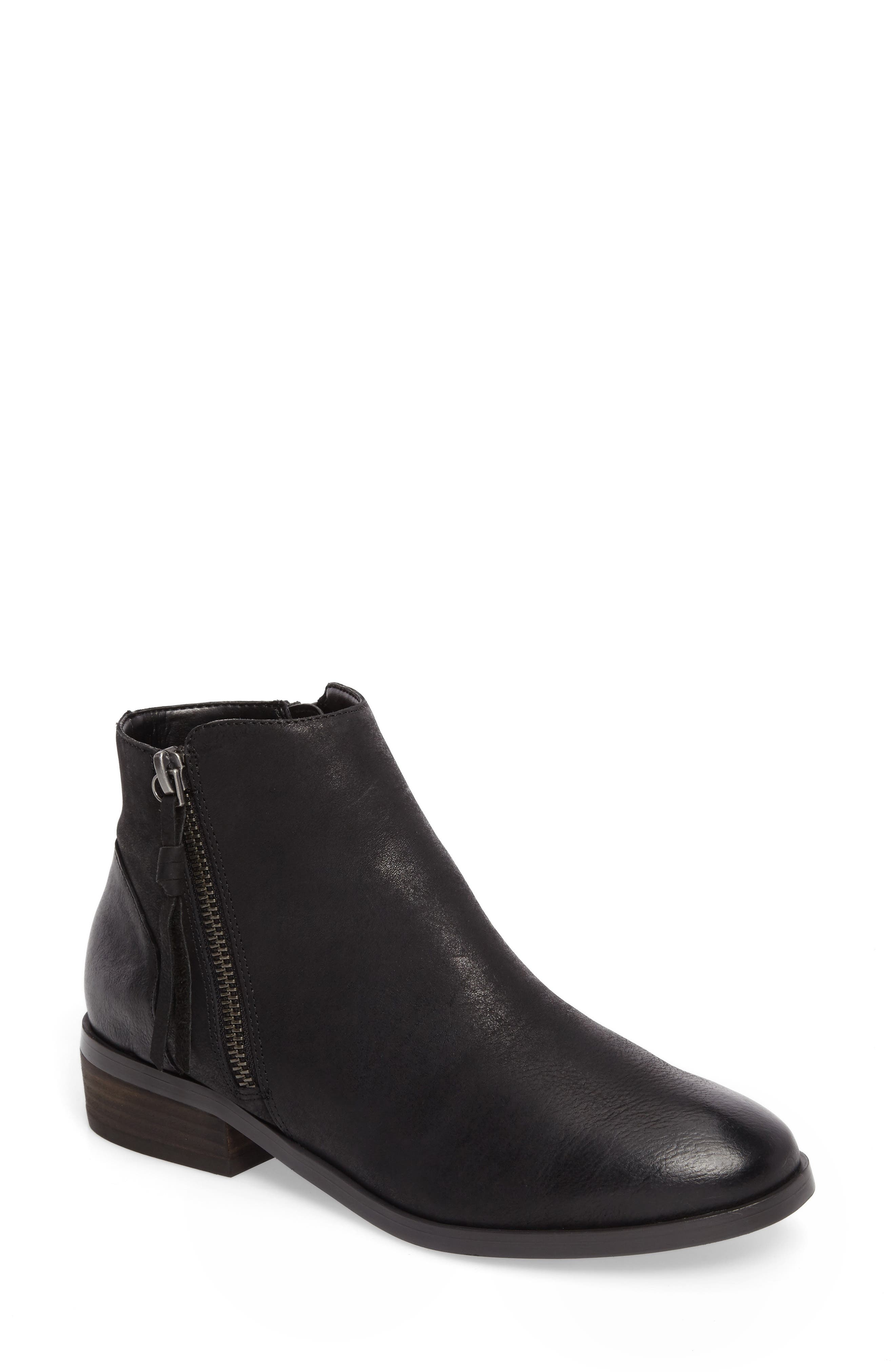 Abbott Bootie,                         Main,                         color, Black Leather