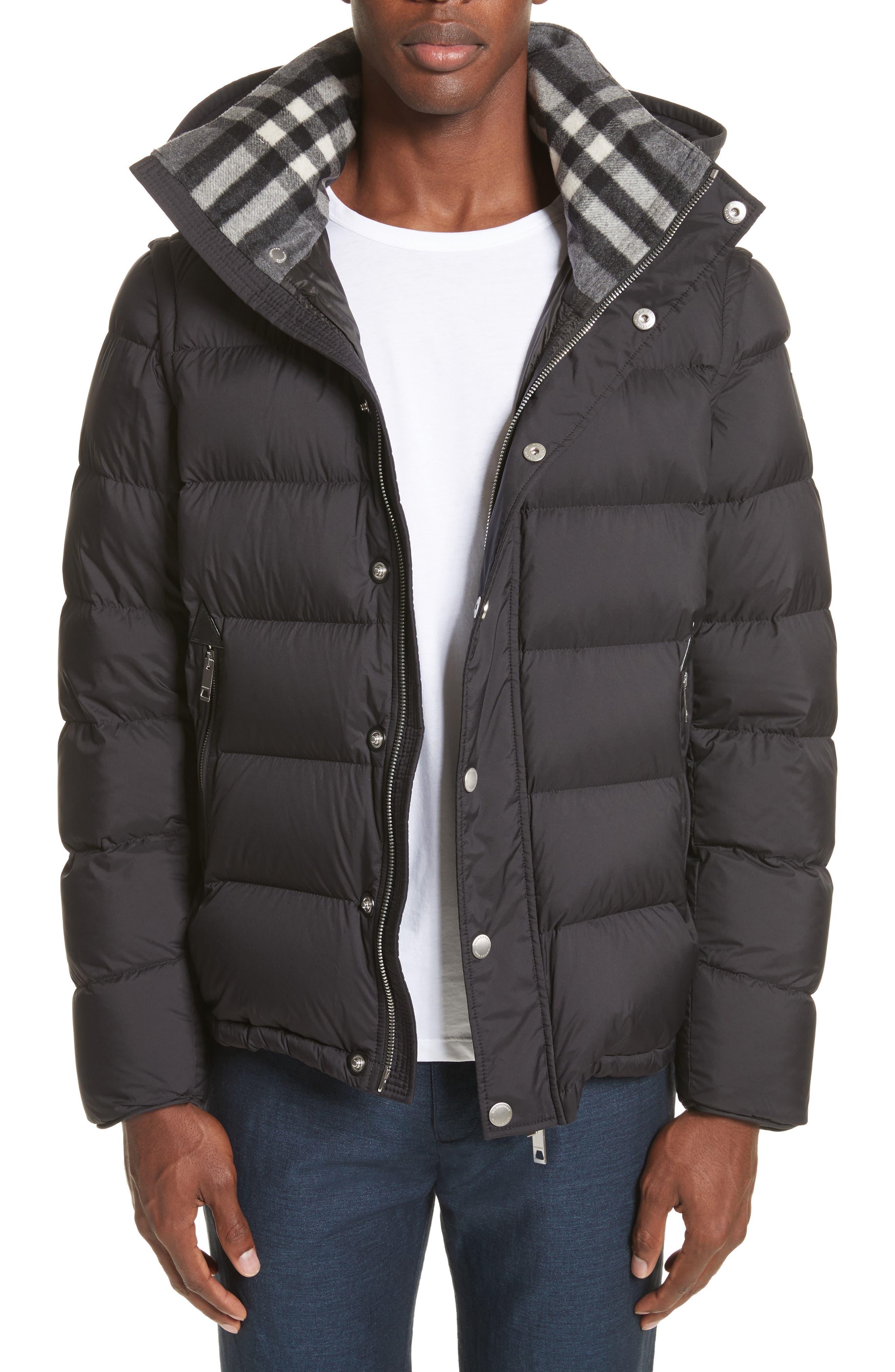 Hartley Convertible Down Jacket,                         Main,                         color, Black
