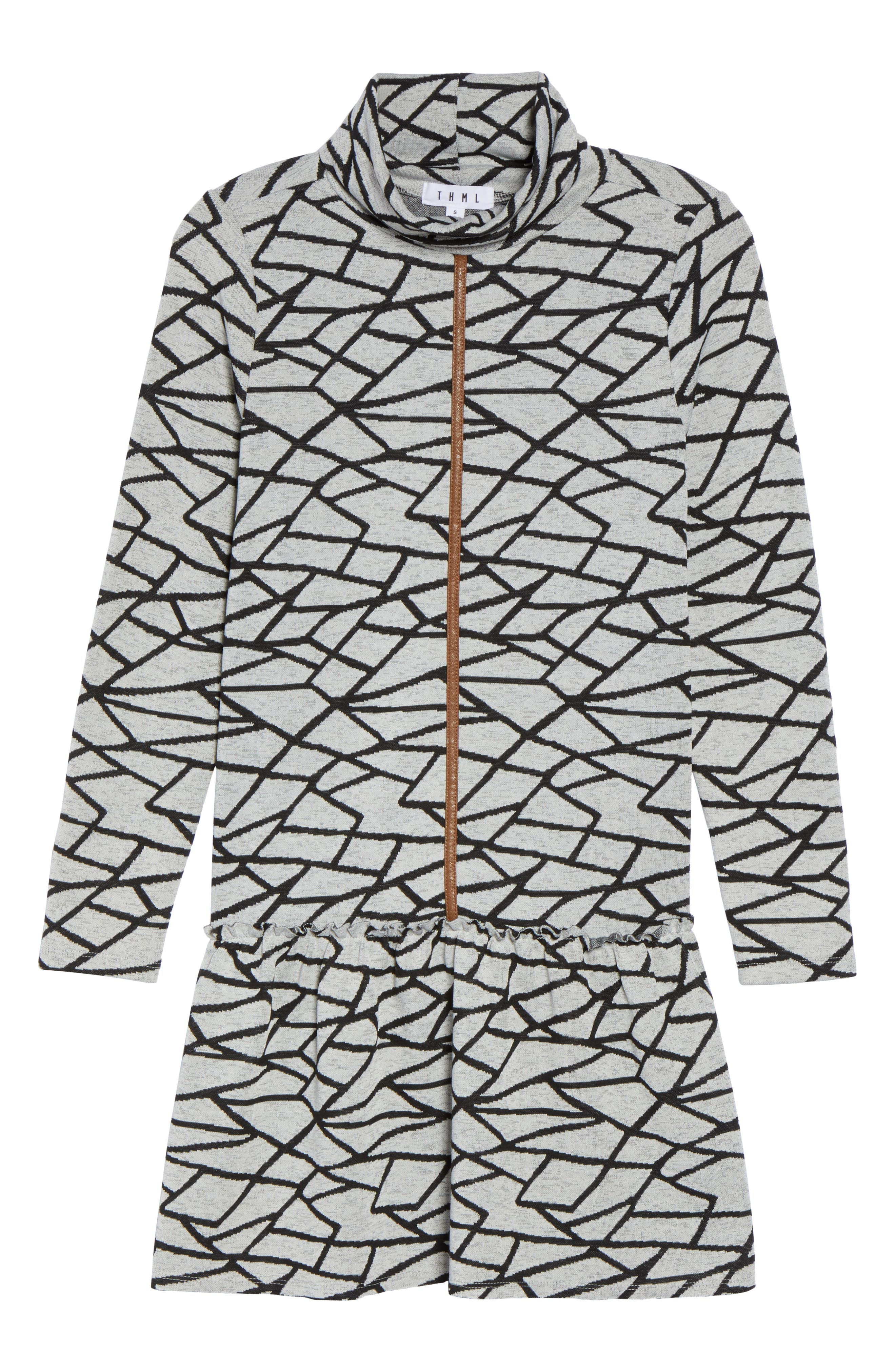 Turtleneck Sweater Dress,                             Alternate thumbnail 6, color,                             Black