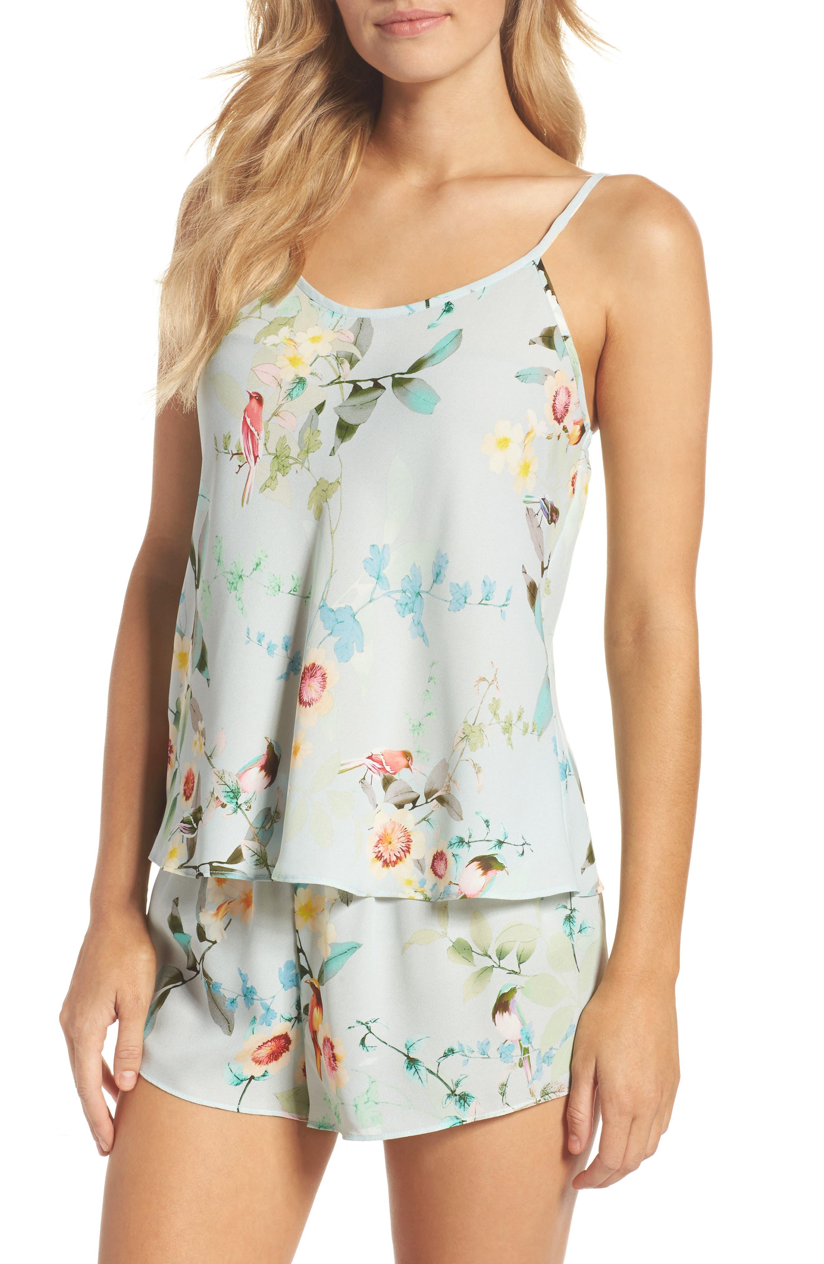 Alison Short Pajamas,                         Main,                         color, Aqua