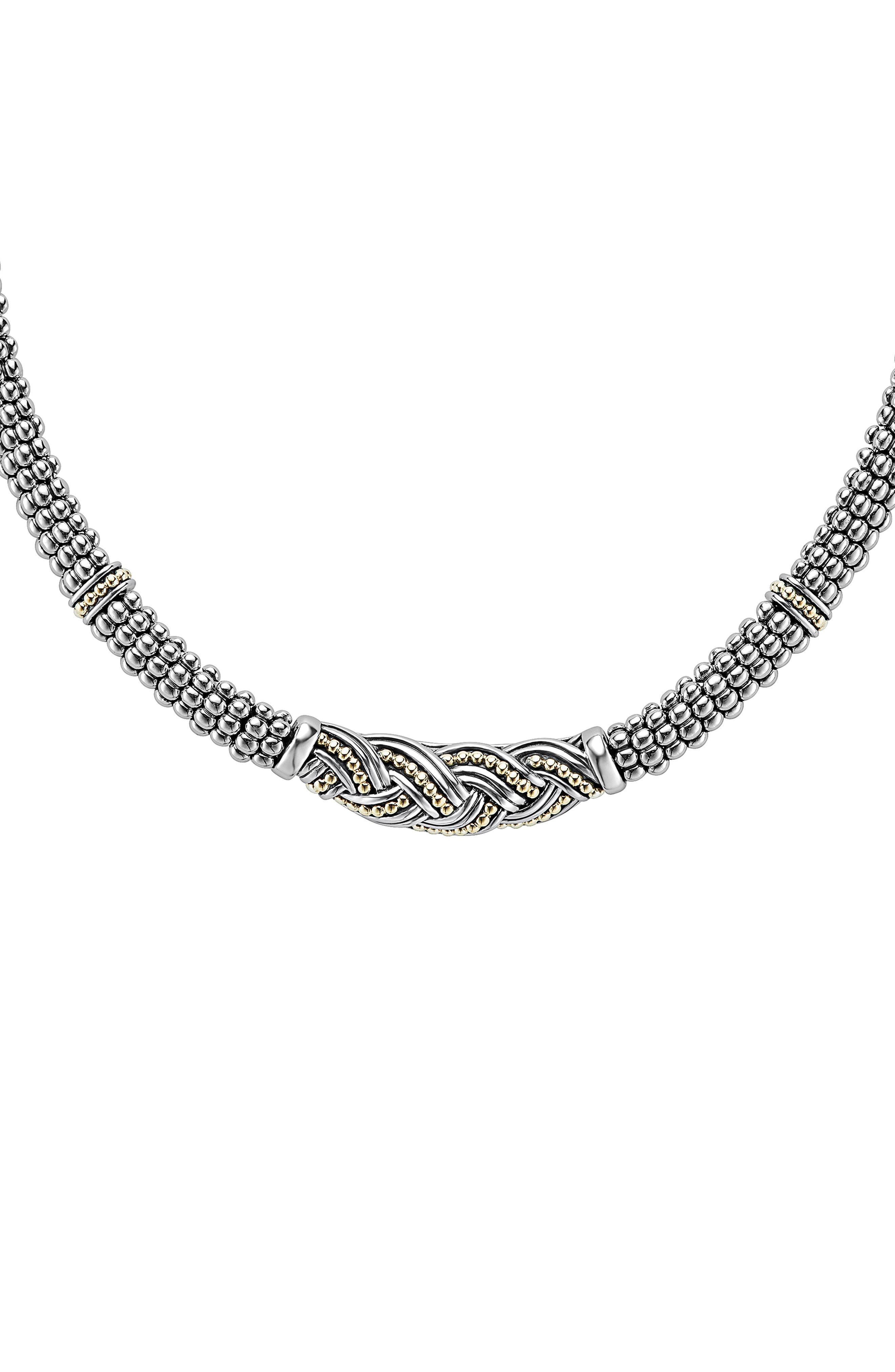 Torsade Rope Necklace,                             Main thumbnail 1, color,                             Silver/ Gold