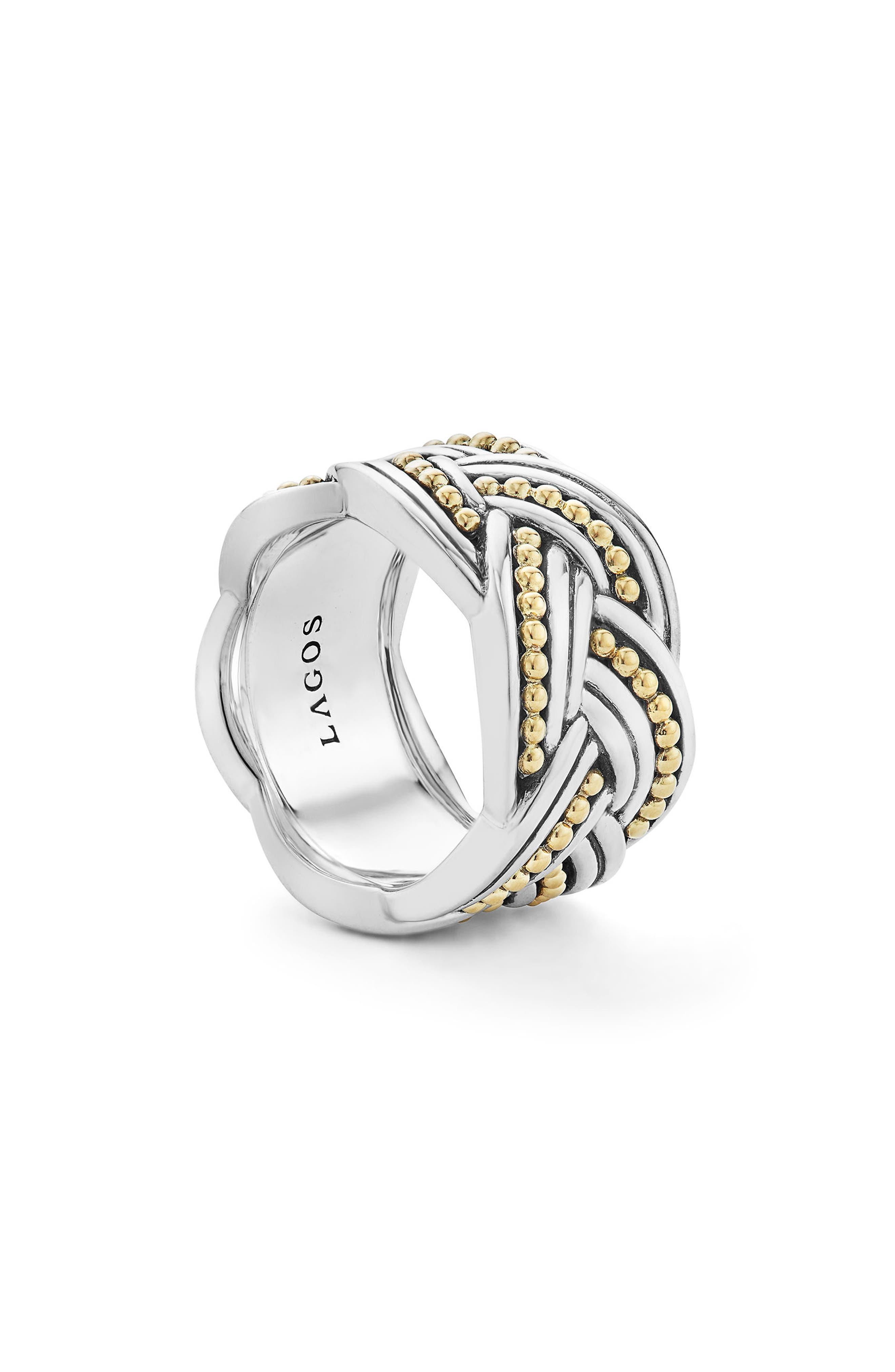 Torsade Knot Ring,                             Alternate thumbnail 5, color,                             Silver/ Gold