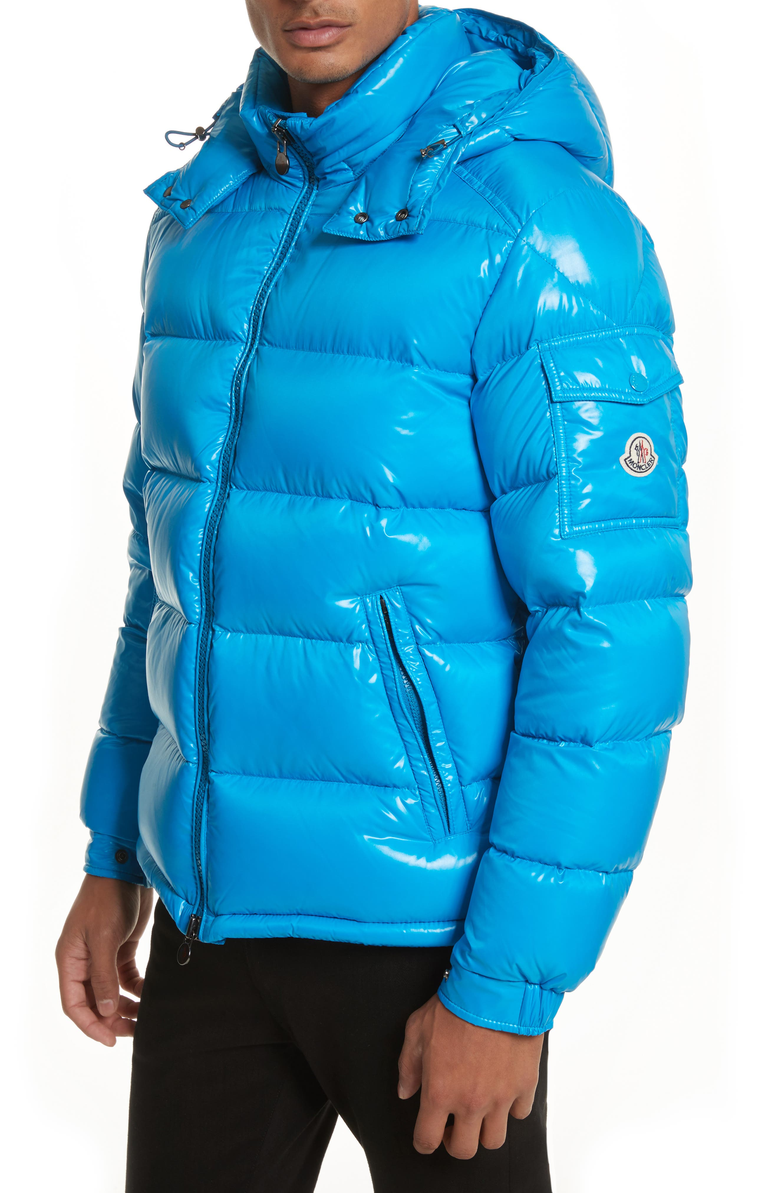 Alternate Image 1 Selected - Moncler Maya Lacquered Down Jacket