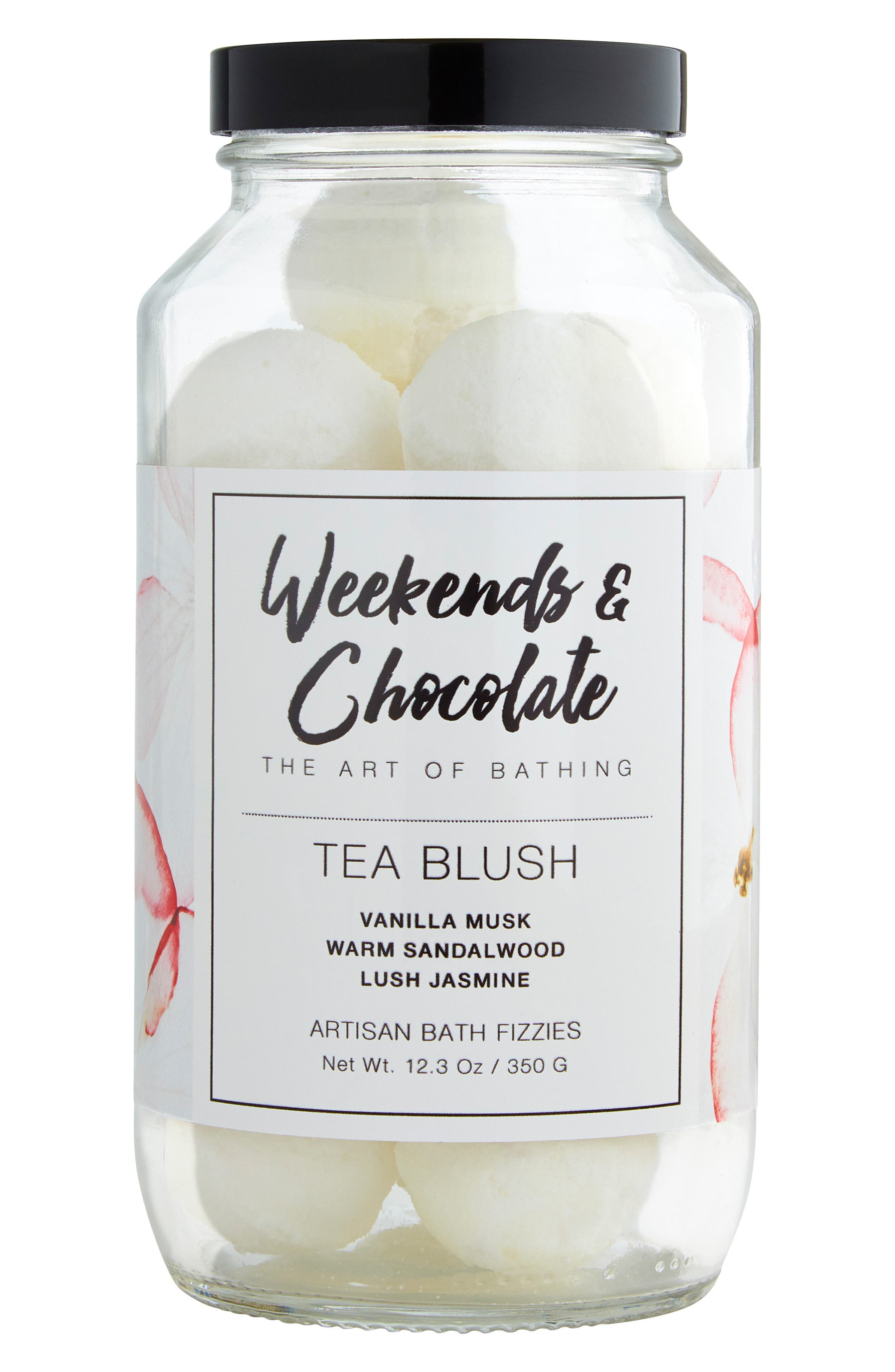 Weekends & Chocolate Tea Blush Bath Fizzies
