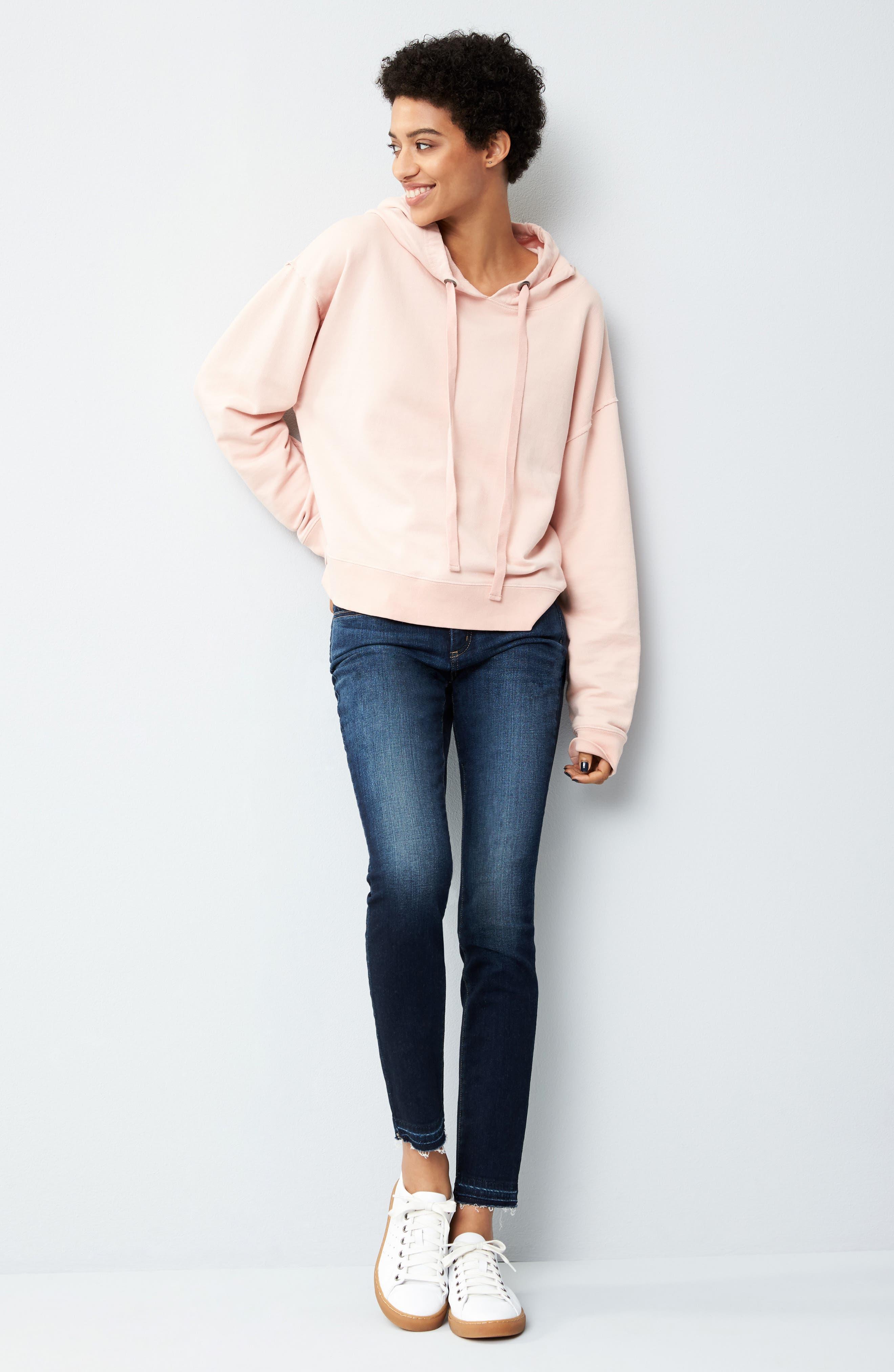 Alina Release Hem Stretch Ankle Jeans,                             Alternate thumbnail 2, color,                             Bezel