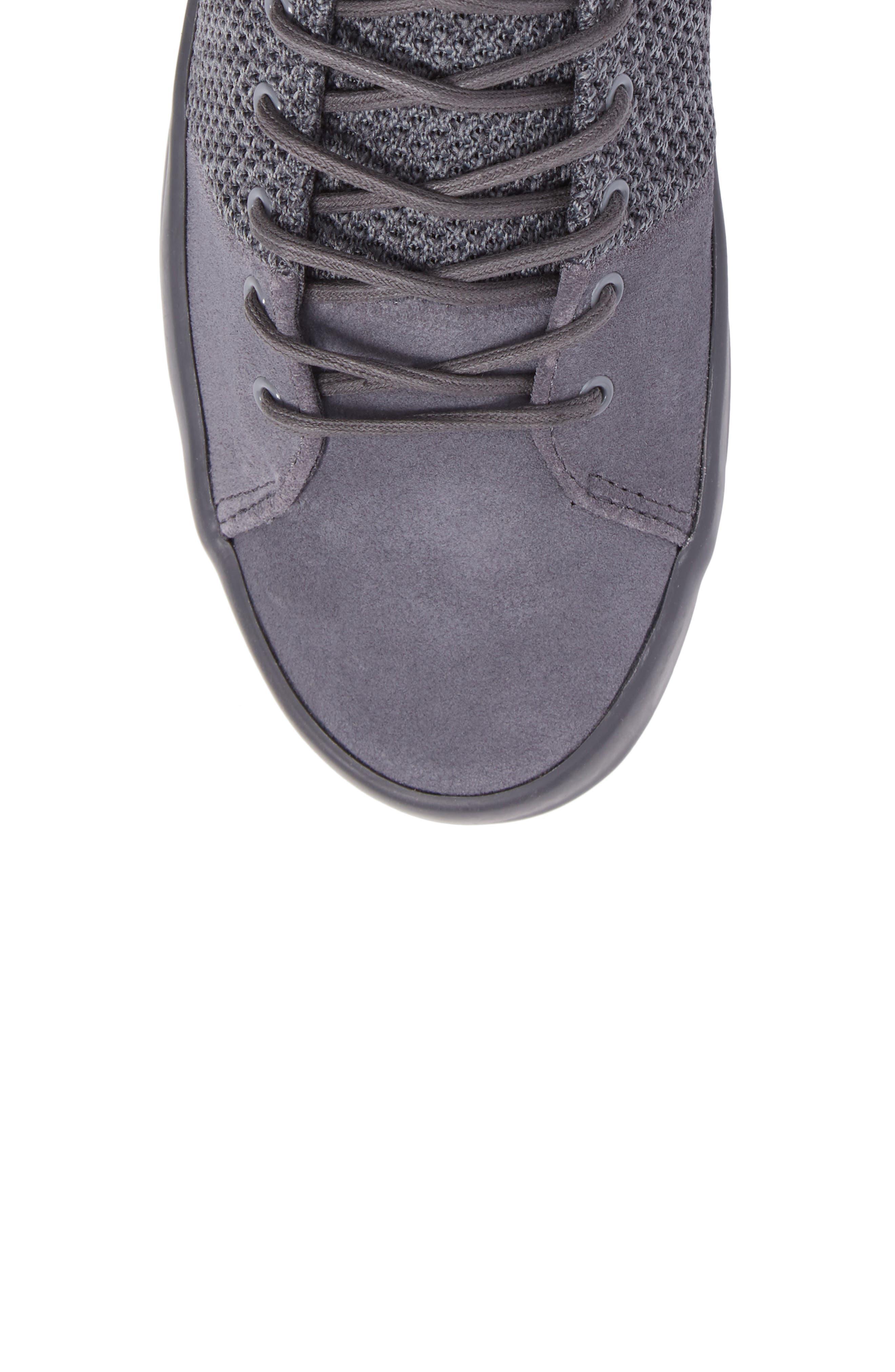 Carda Hi Sneaker,                             Alternate thumbnail 5, color,                             Smoke Leather