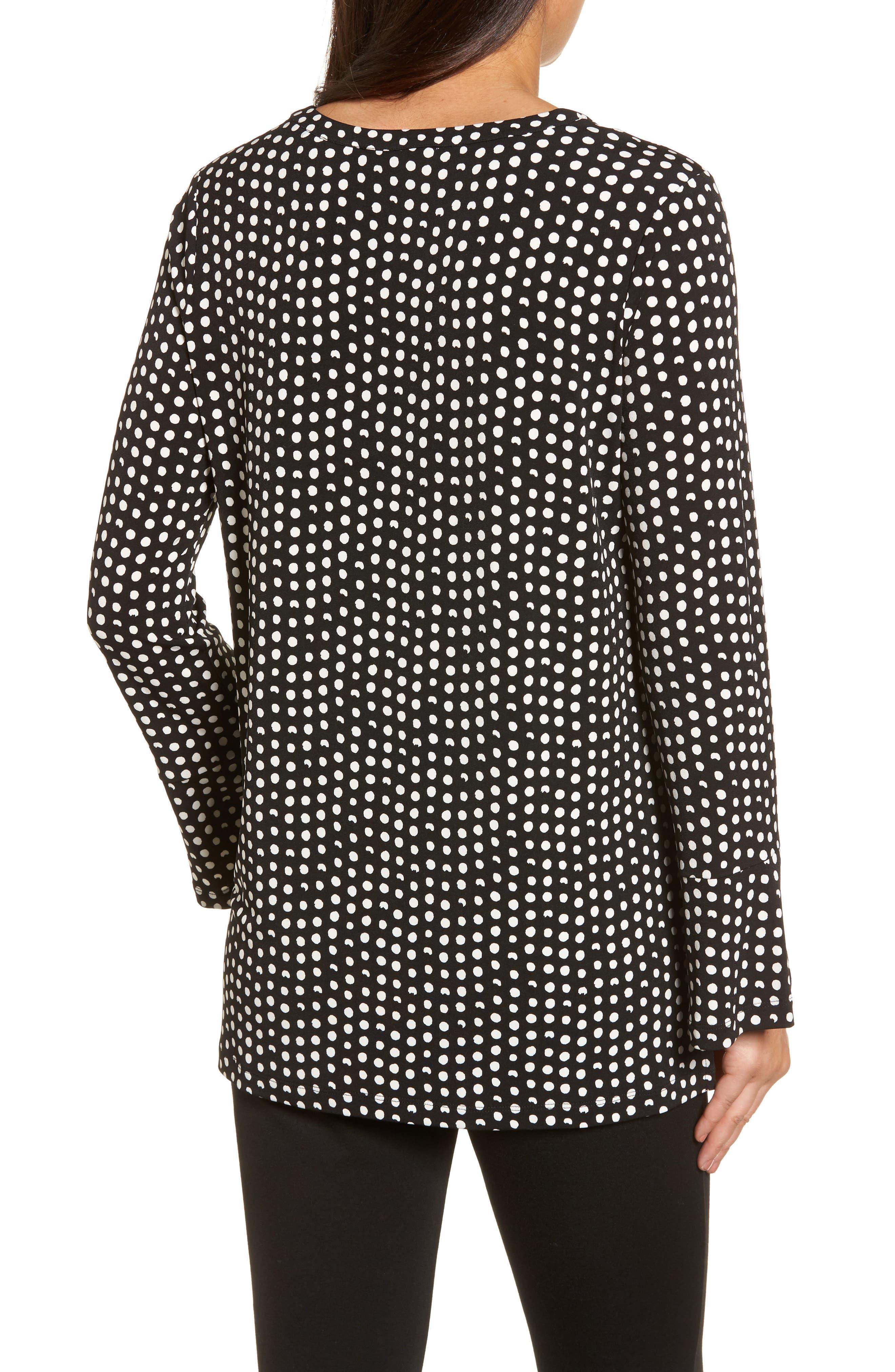 Alternate Image 2  - Chaus Polka Dot Matte Jersey Top
