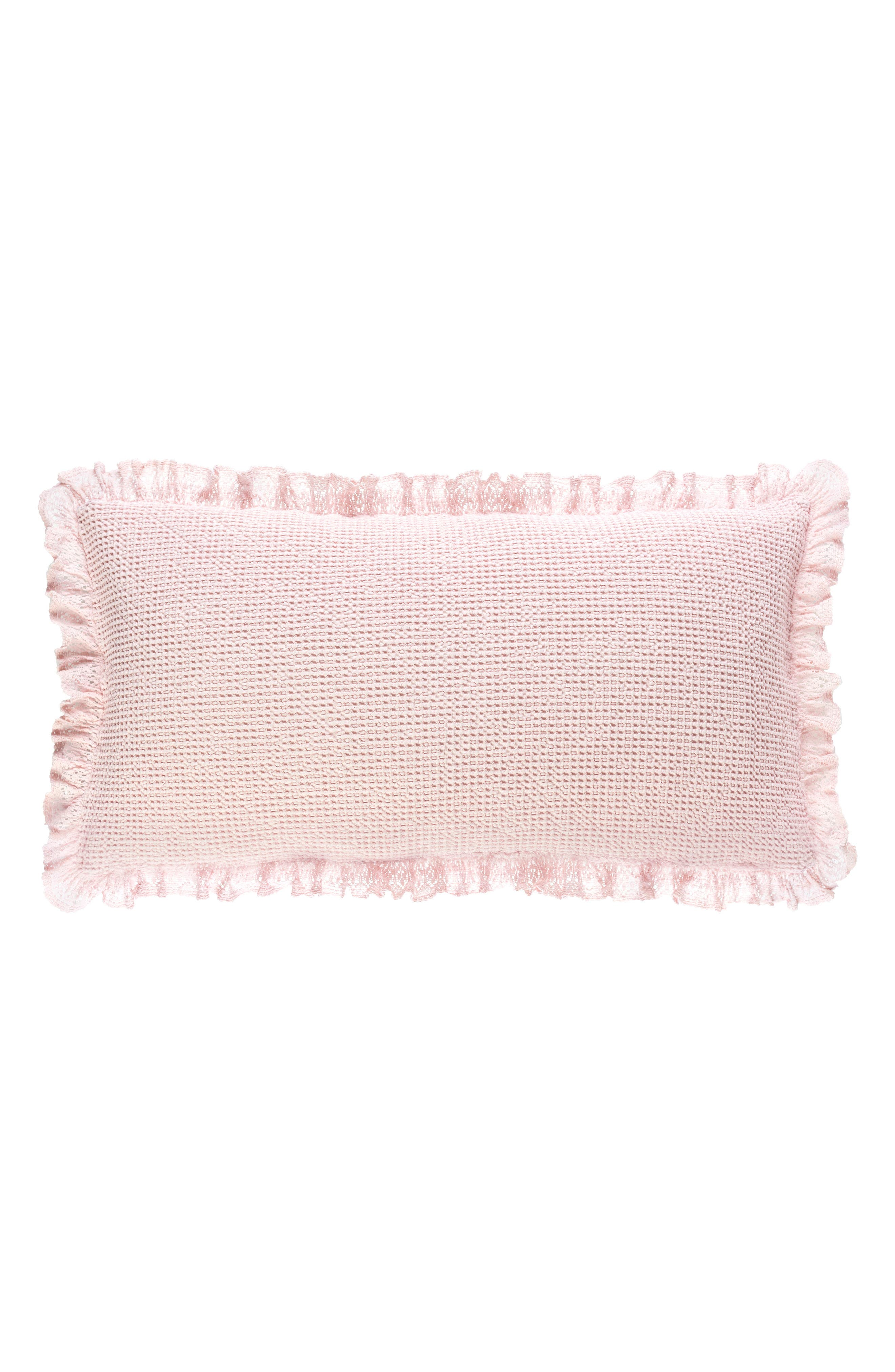 Pine Cone Hill Lace Ruffle Accent Pillow