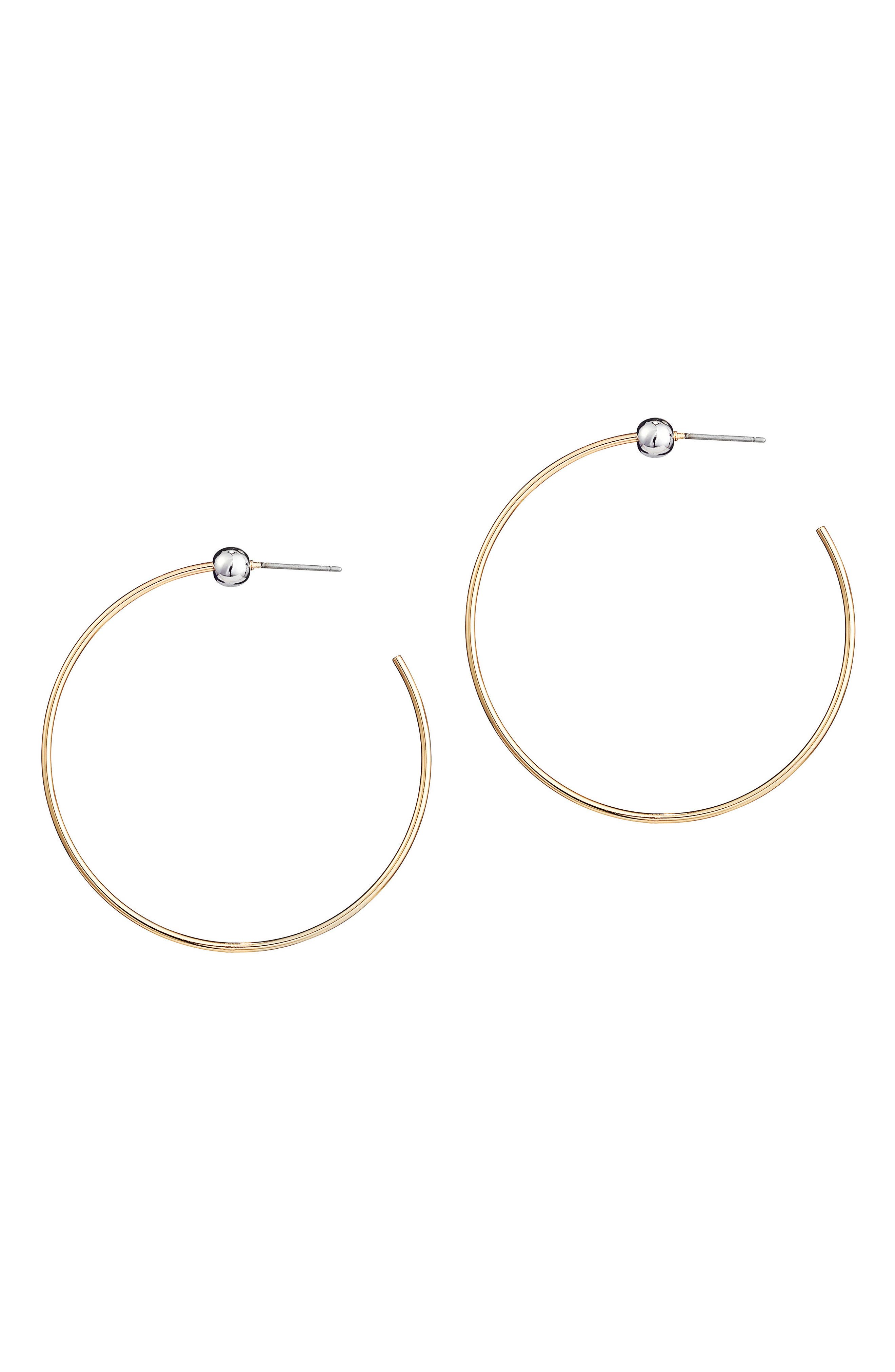 Icon Small Hoop Earrings,                         Main,                         color, Gold/ Silver