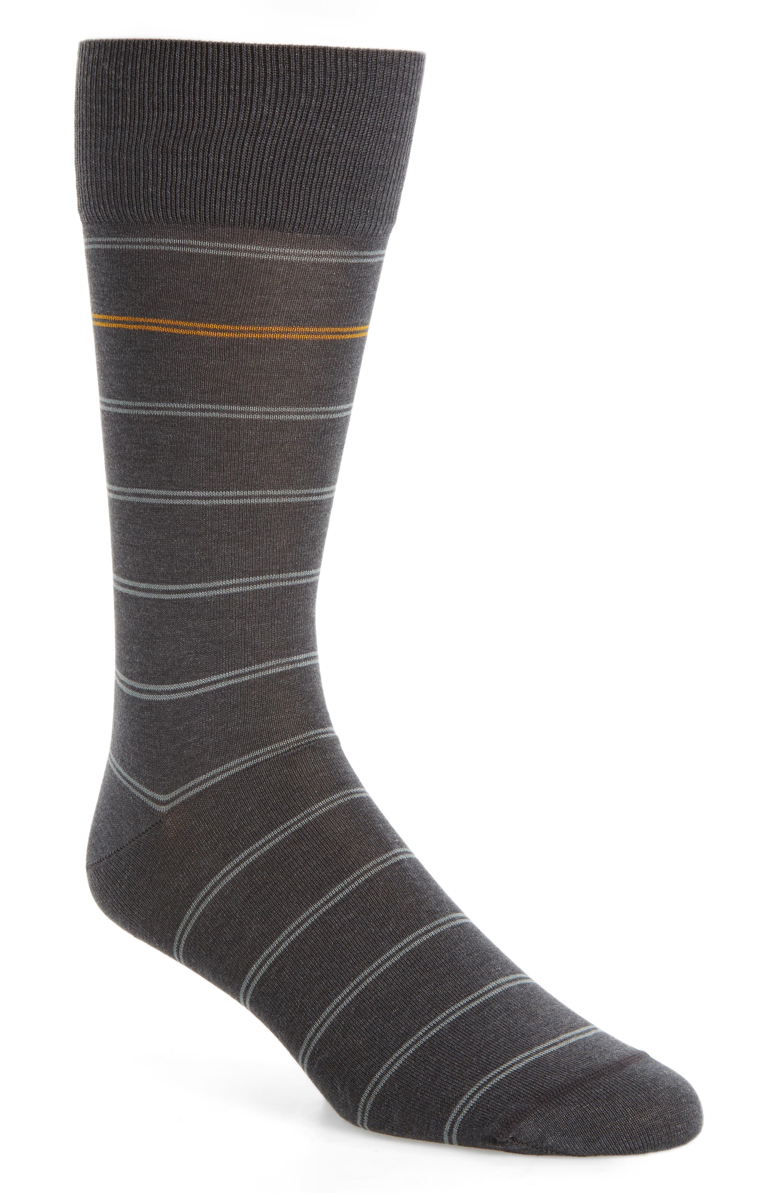 Stripe Socks,                         Main,                         color, Charcoal/ Grey