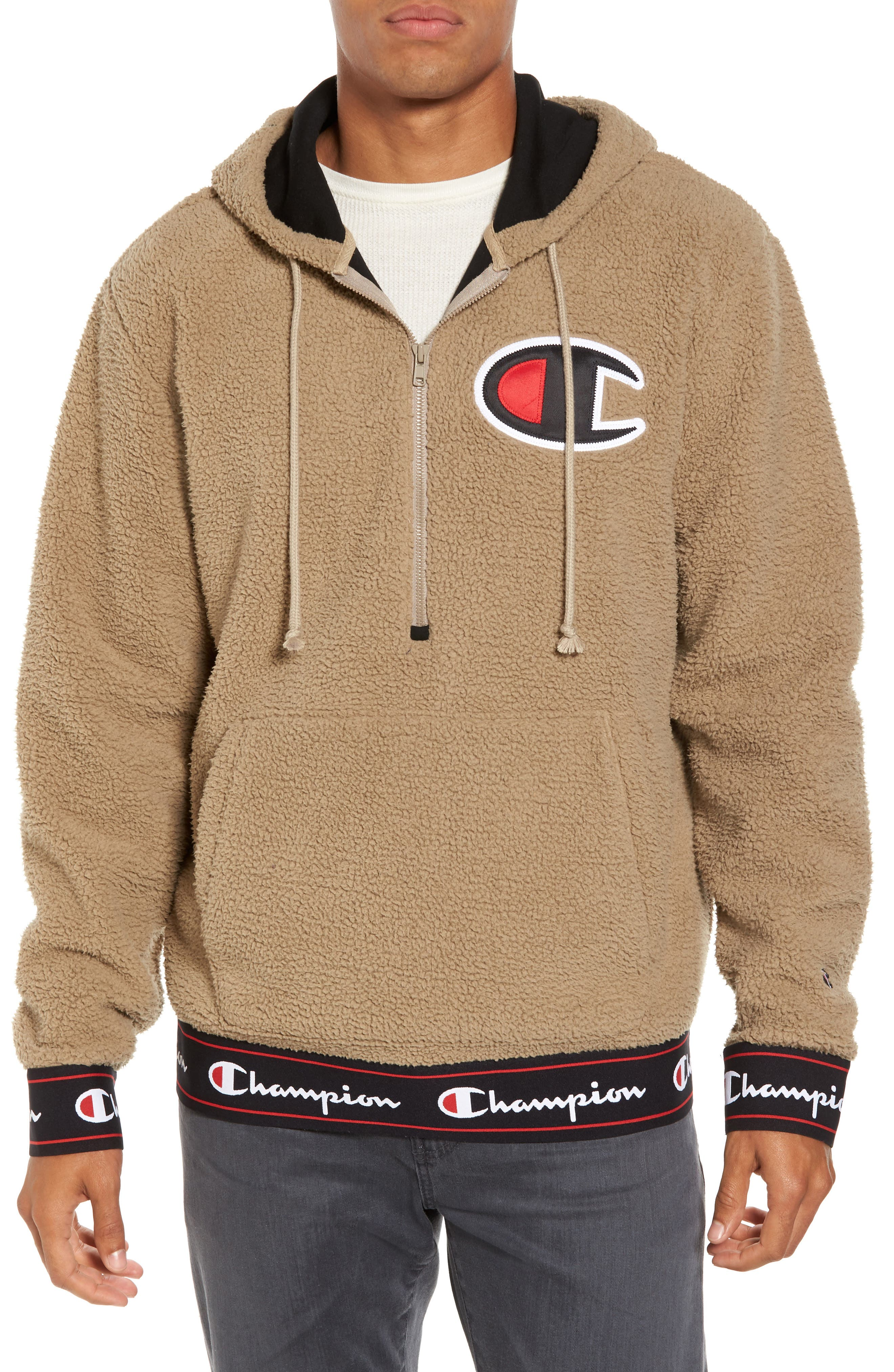Champion Teddybear Fleece Half-Zip Hoodie