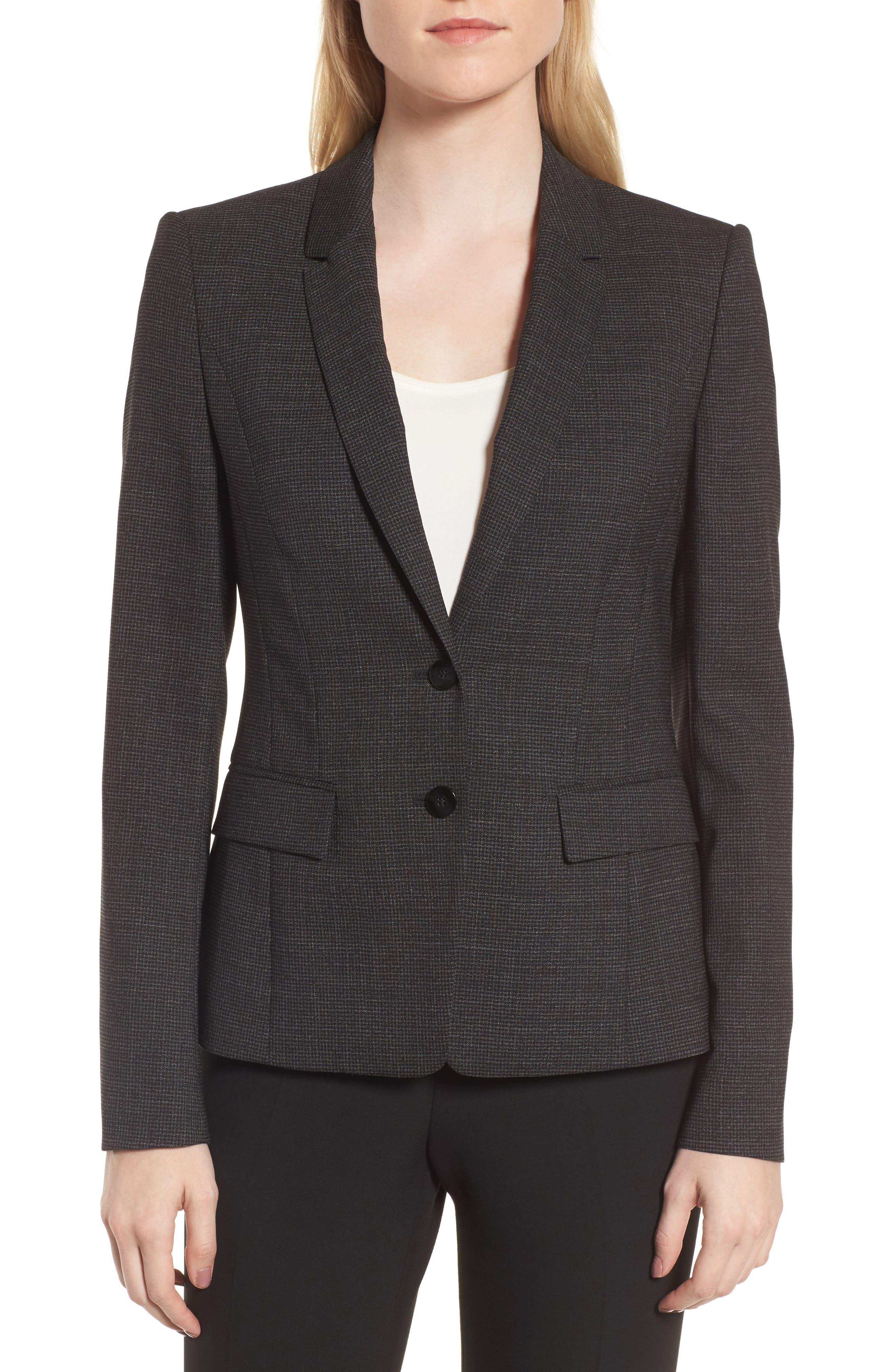 Jewisa Wool Jacket,                         Main,                         color, Black Fantasy