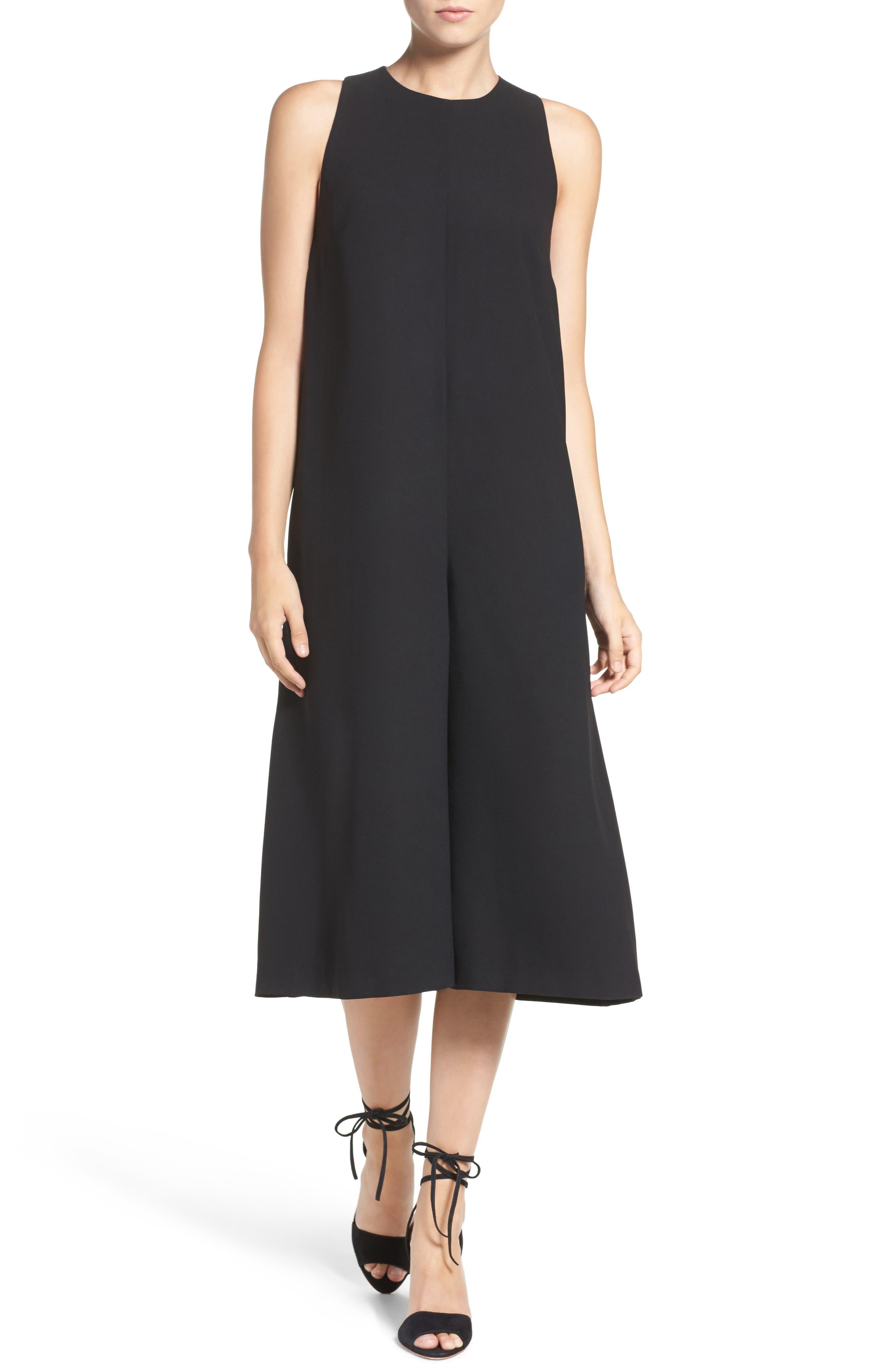'Arrow' Crepe Coulotte Jumpsuit,                         Main,                         color, Black