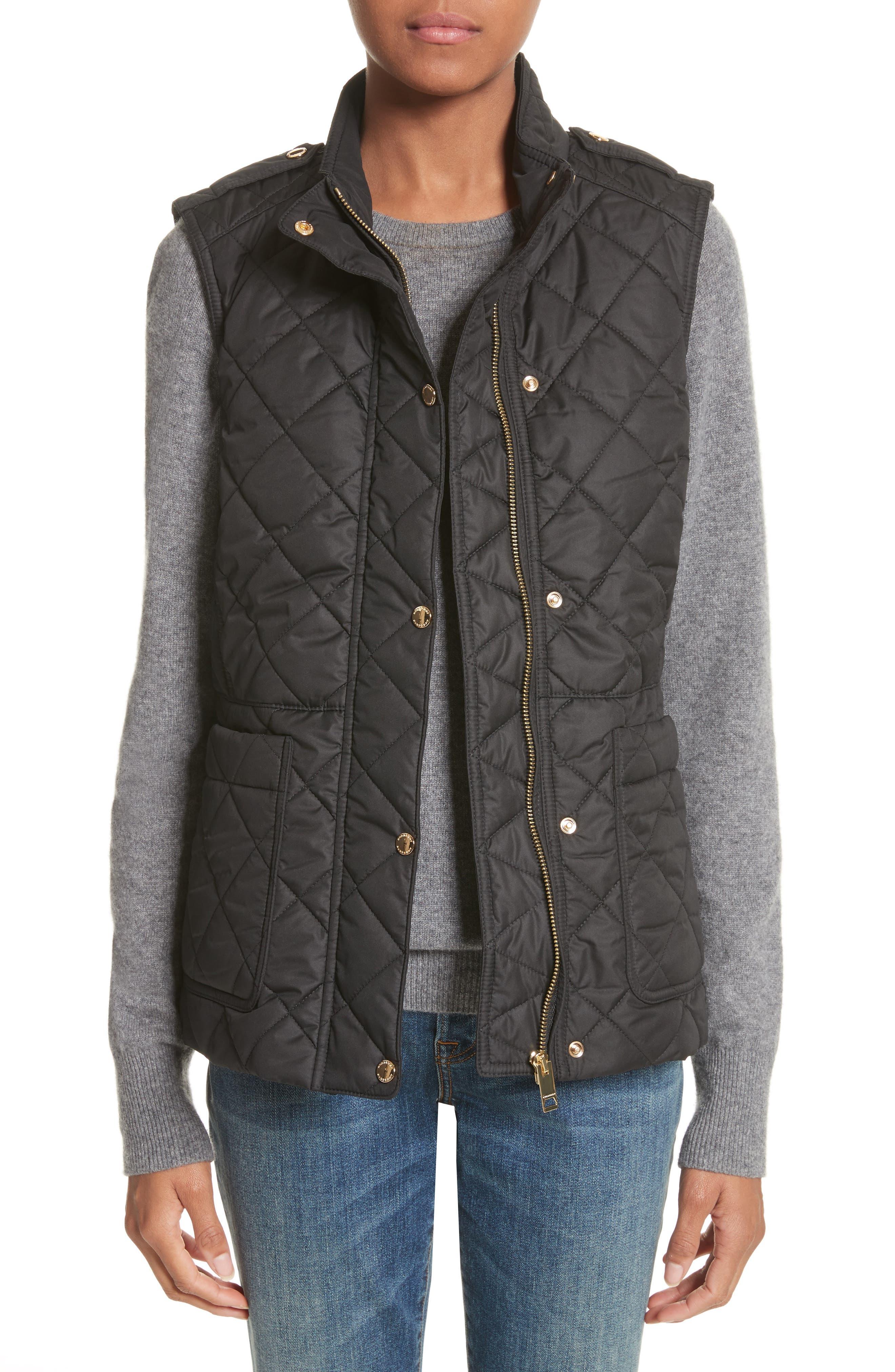 Westleton Quilted Vest,                         Main,                         color, Black