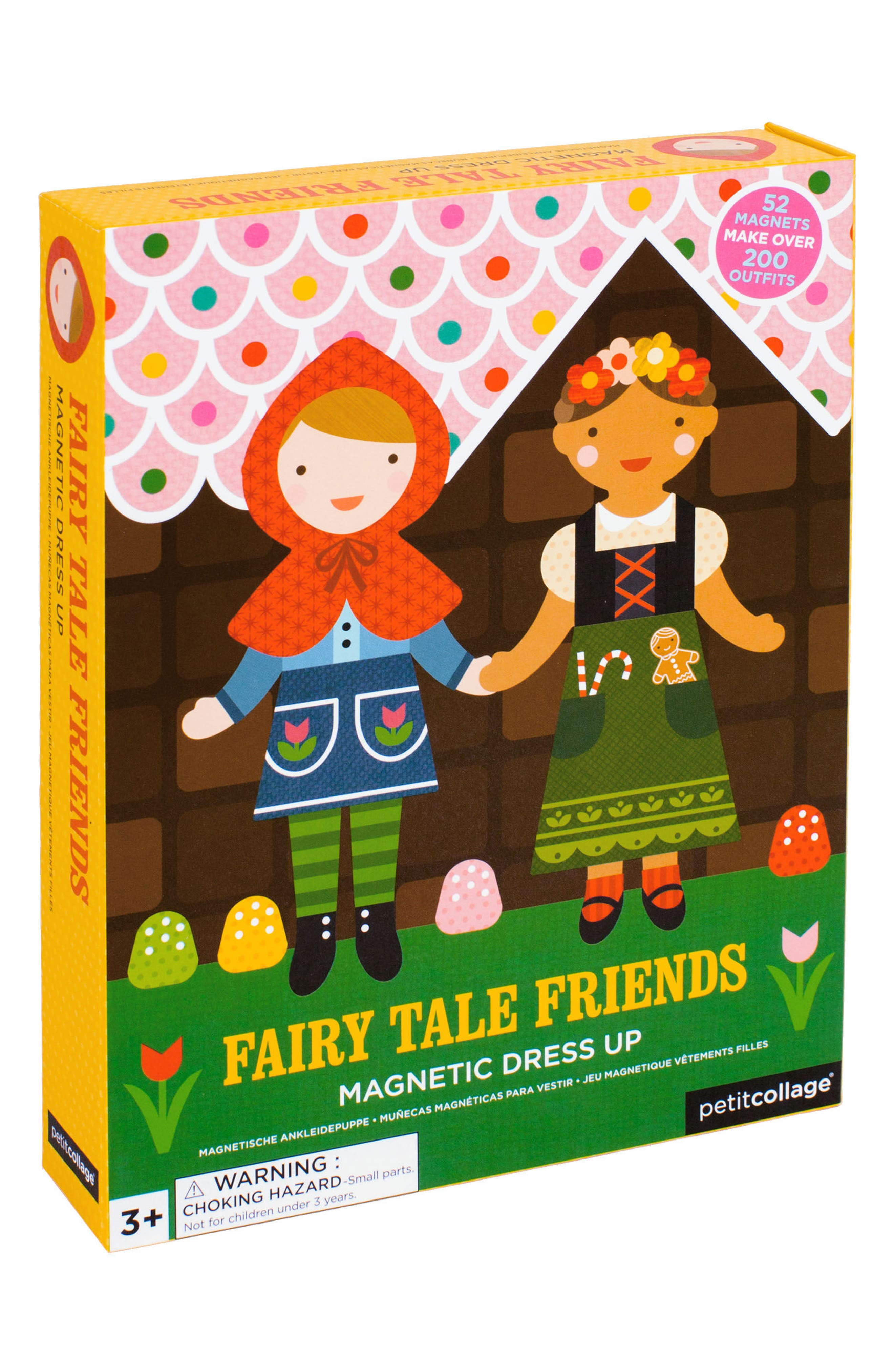 Petit Collage 56-Piece Fairy Tale Friends Magnetic Dress-Up Dolls Set