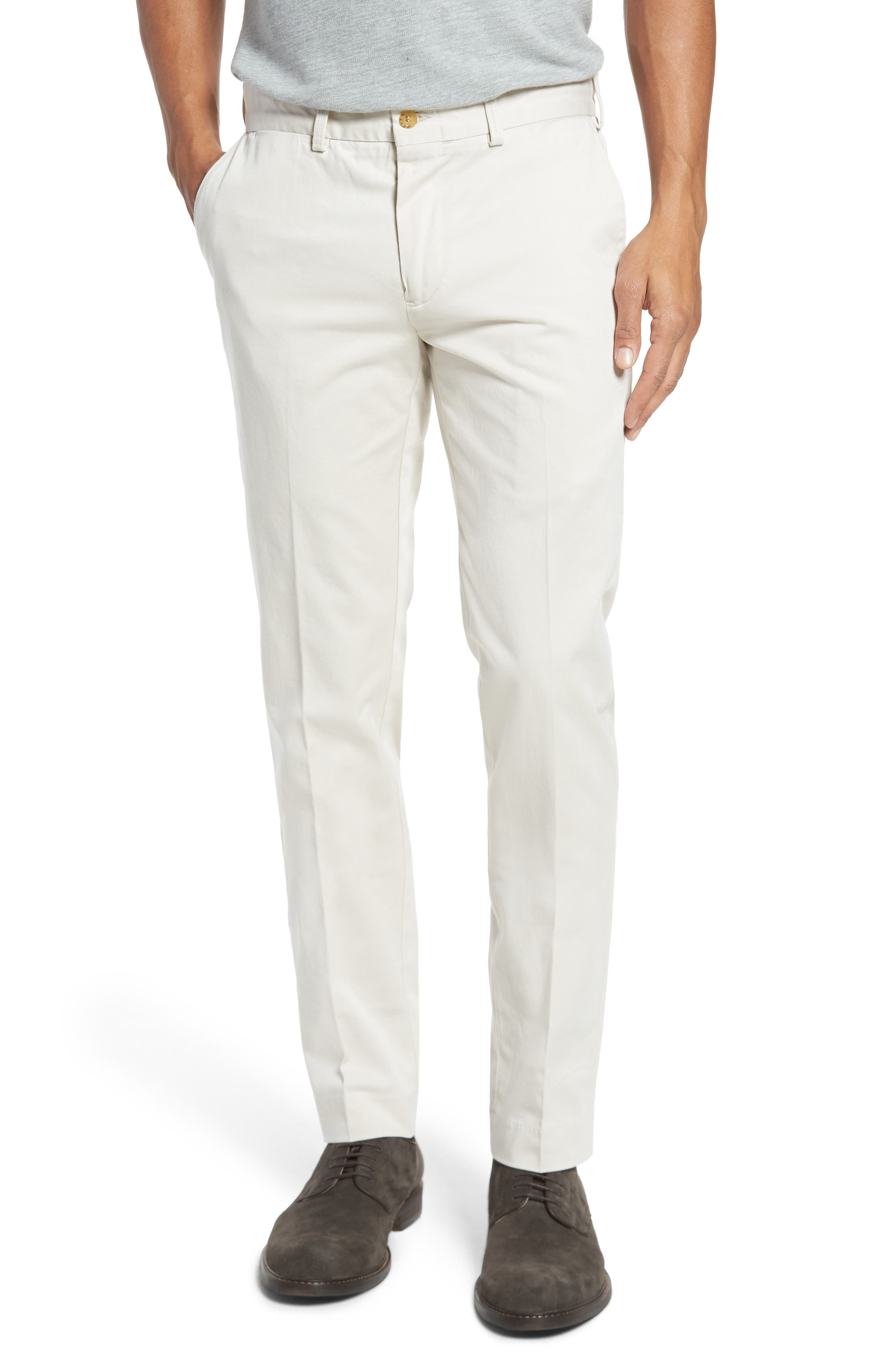 Montgomery Slim Fit Stretch Twill Pants,                         Main,                         color, Stone