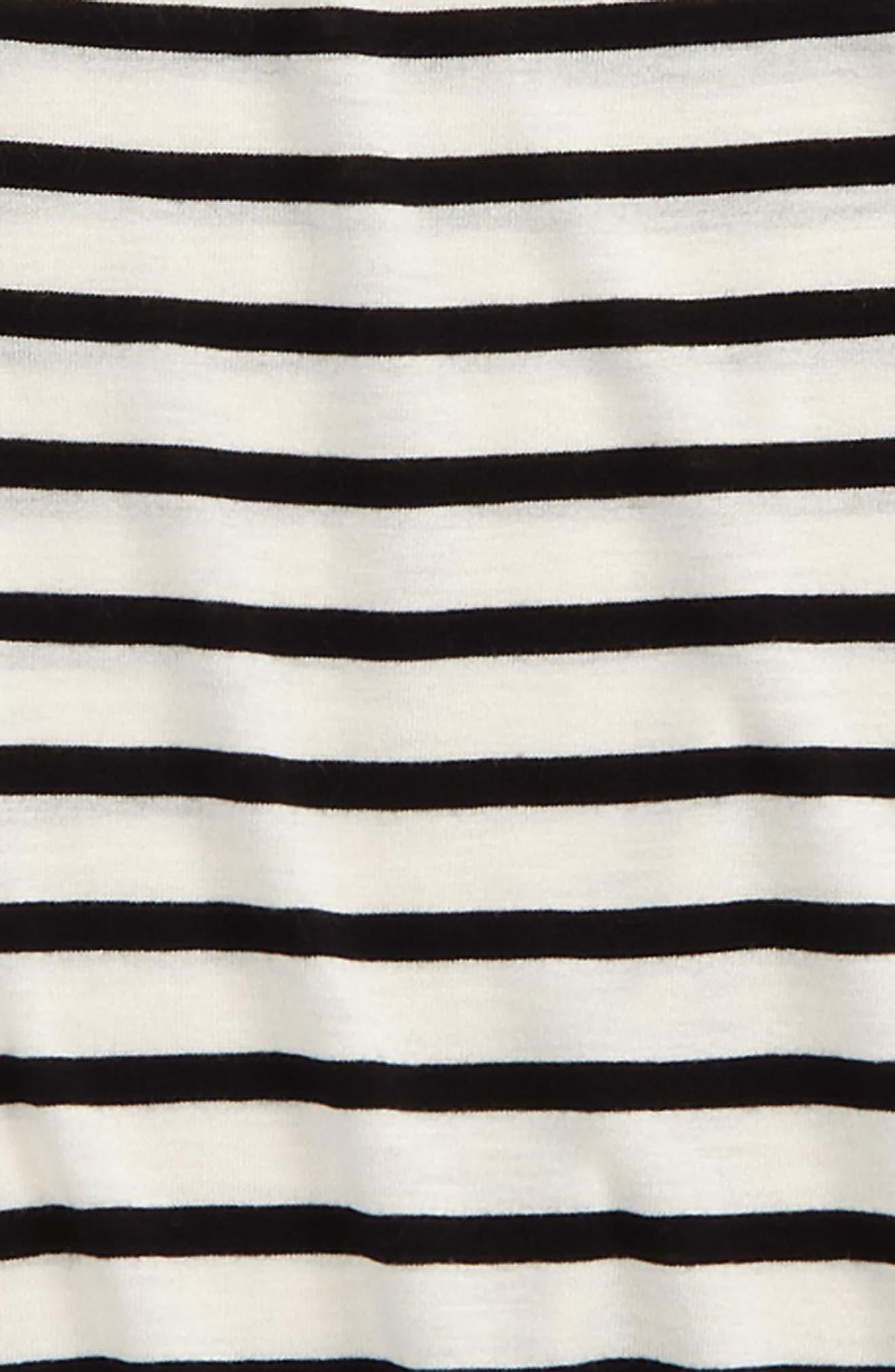 Bell Sleeve Tee,                             Alternate thumbnail 2, color,                             Ivory Egret- Black Stripe
