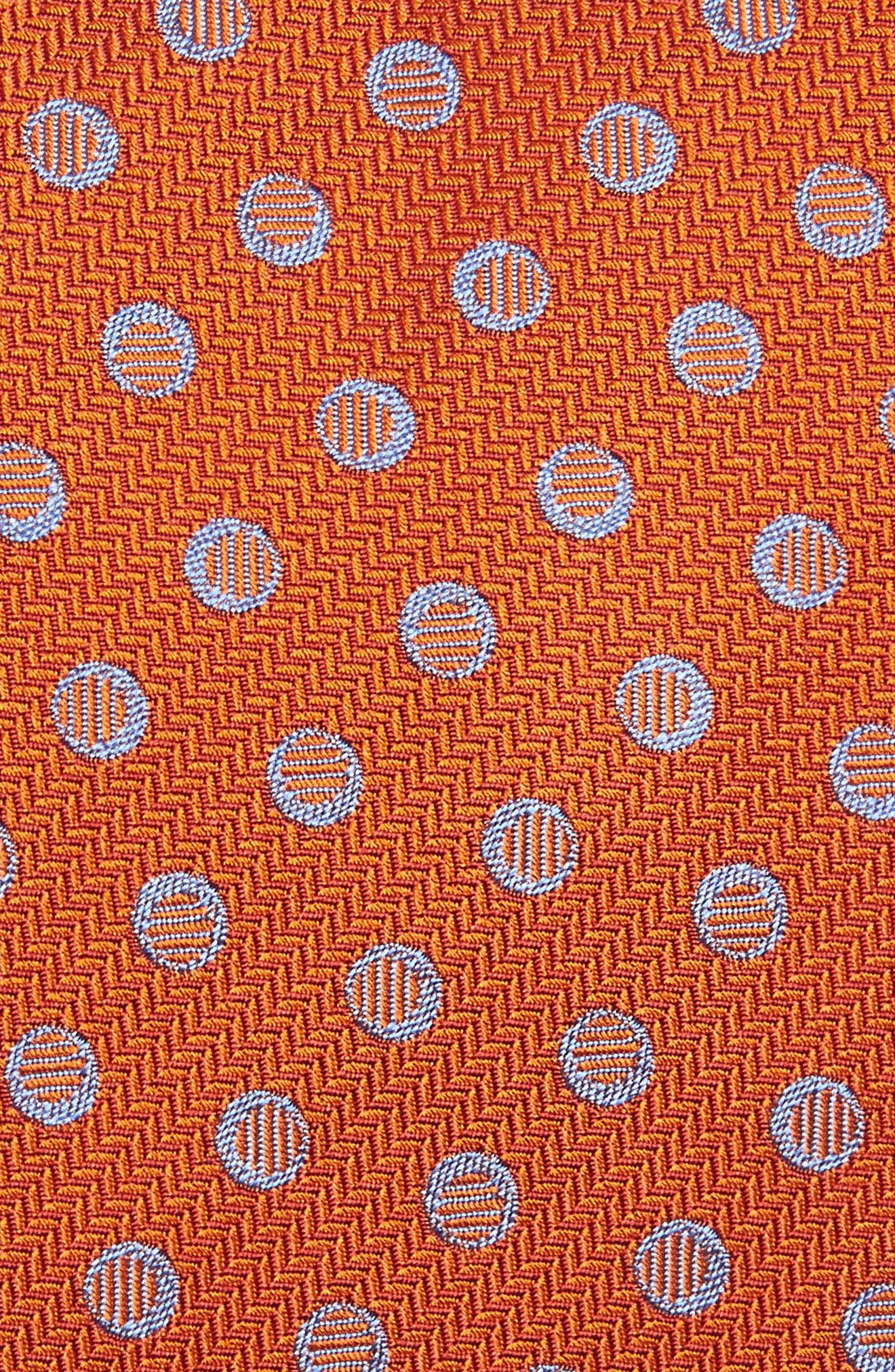 Dot Silk Tie,                             Alternate thumbnail 2, color,                             Pumpkin