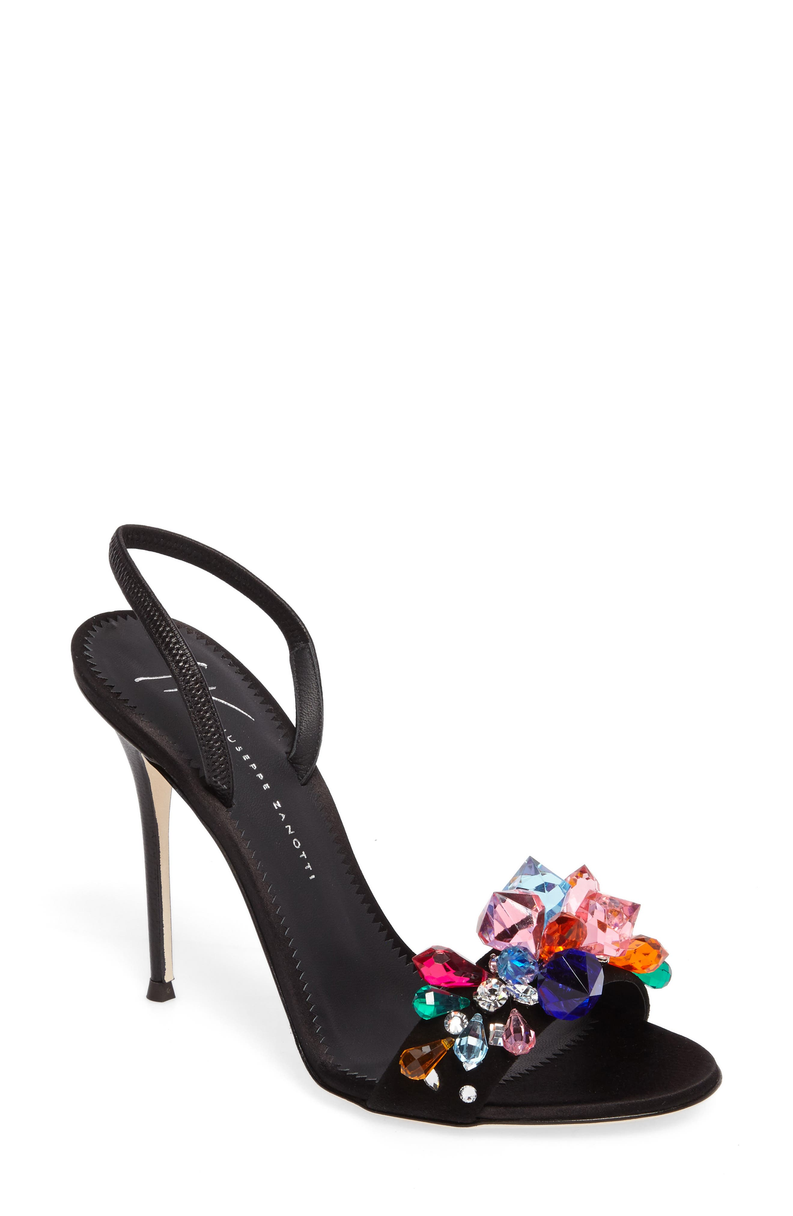 Giuseppe Zanotti Mistico Crystal Embellished Slingback Sandal (Women)