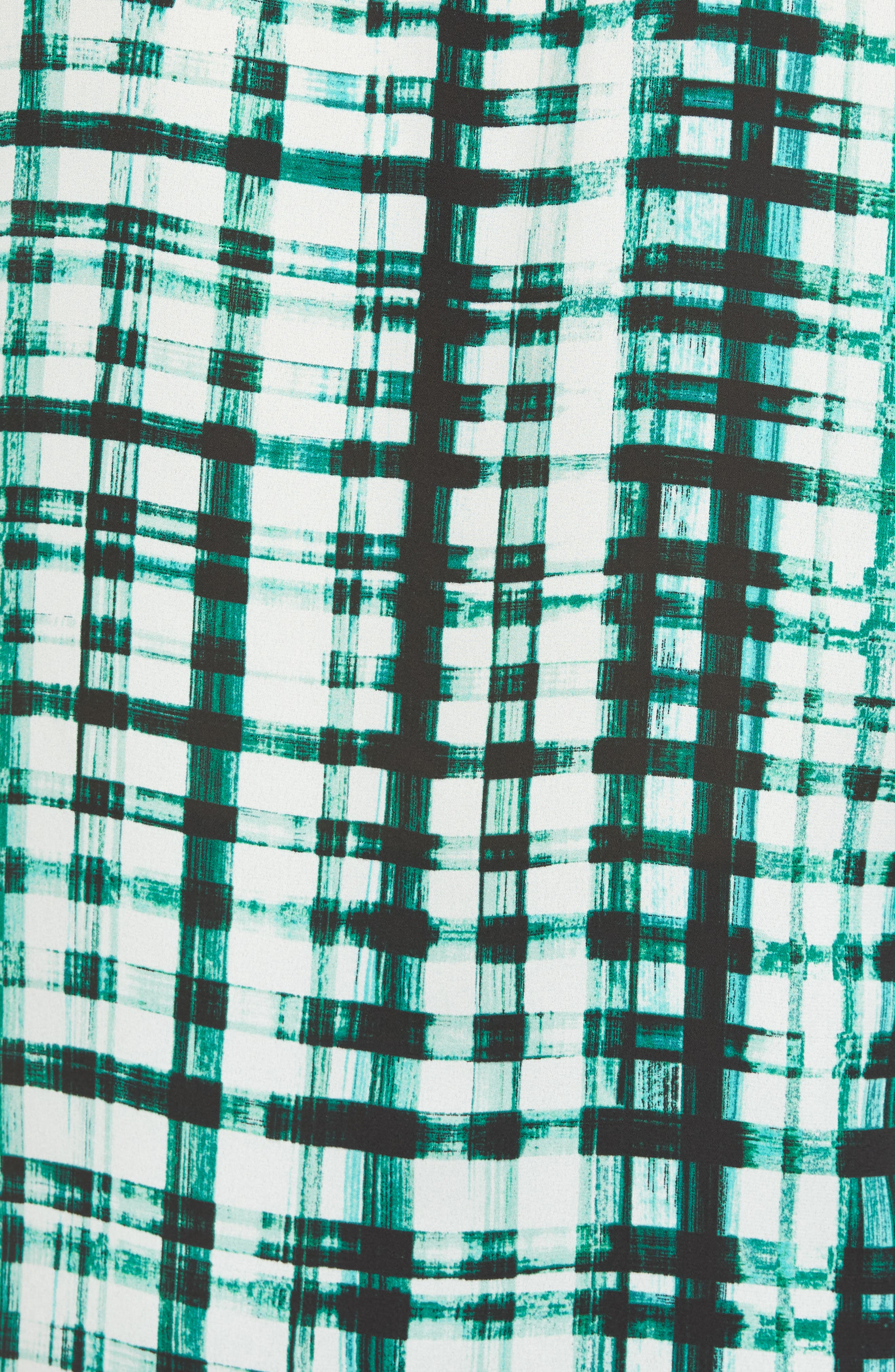Plaid Ruffle Sleeve Blouse,                             Alternate thumbnail 5, color,                             Bright Amazon